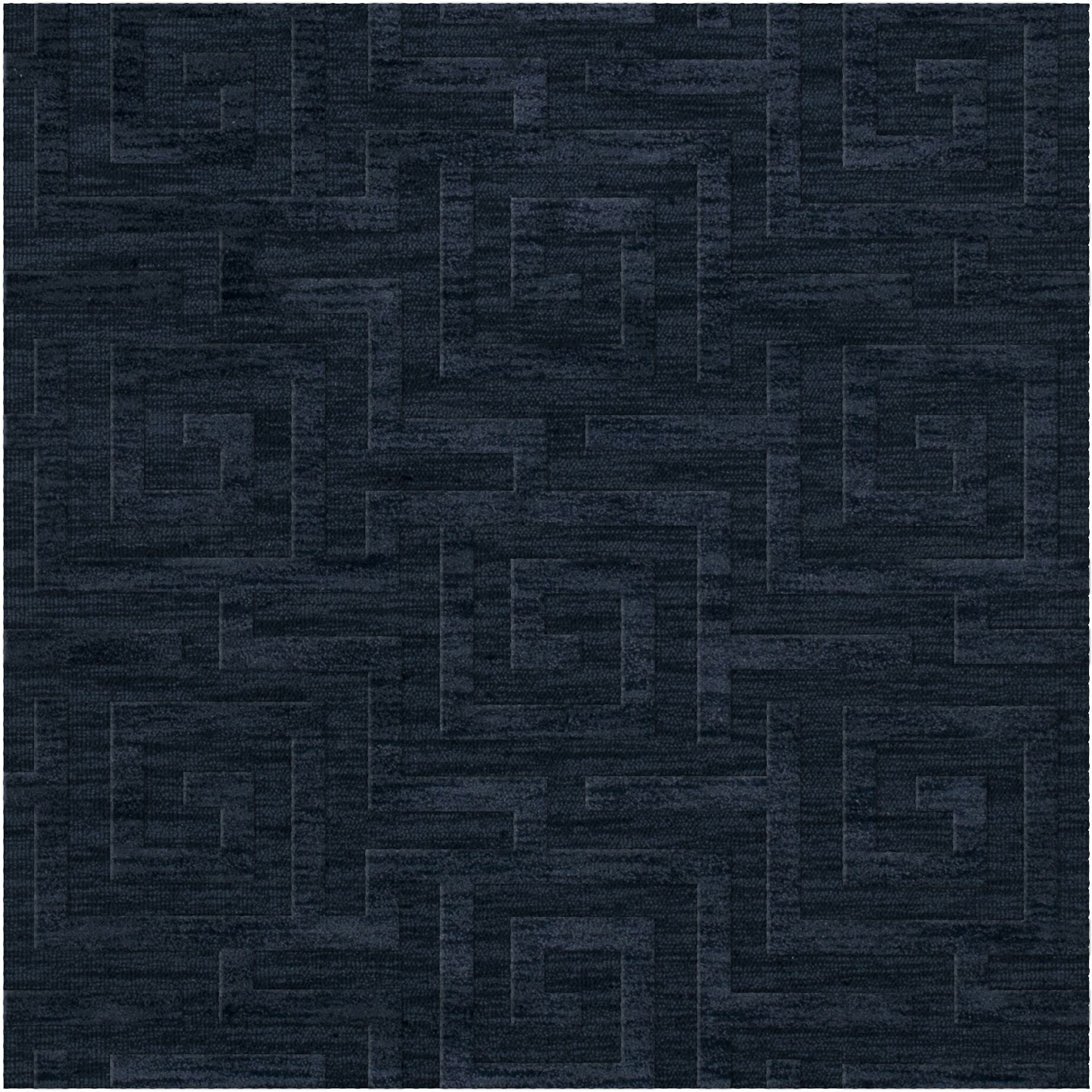 Dover Tufted Wool Navy Area Rug Rug Size: Square 4'