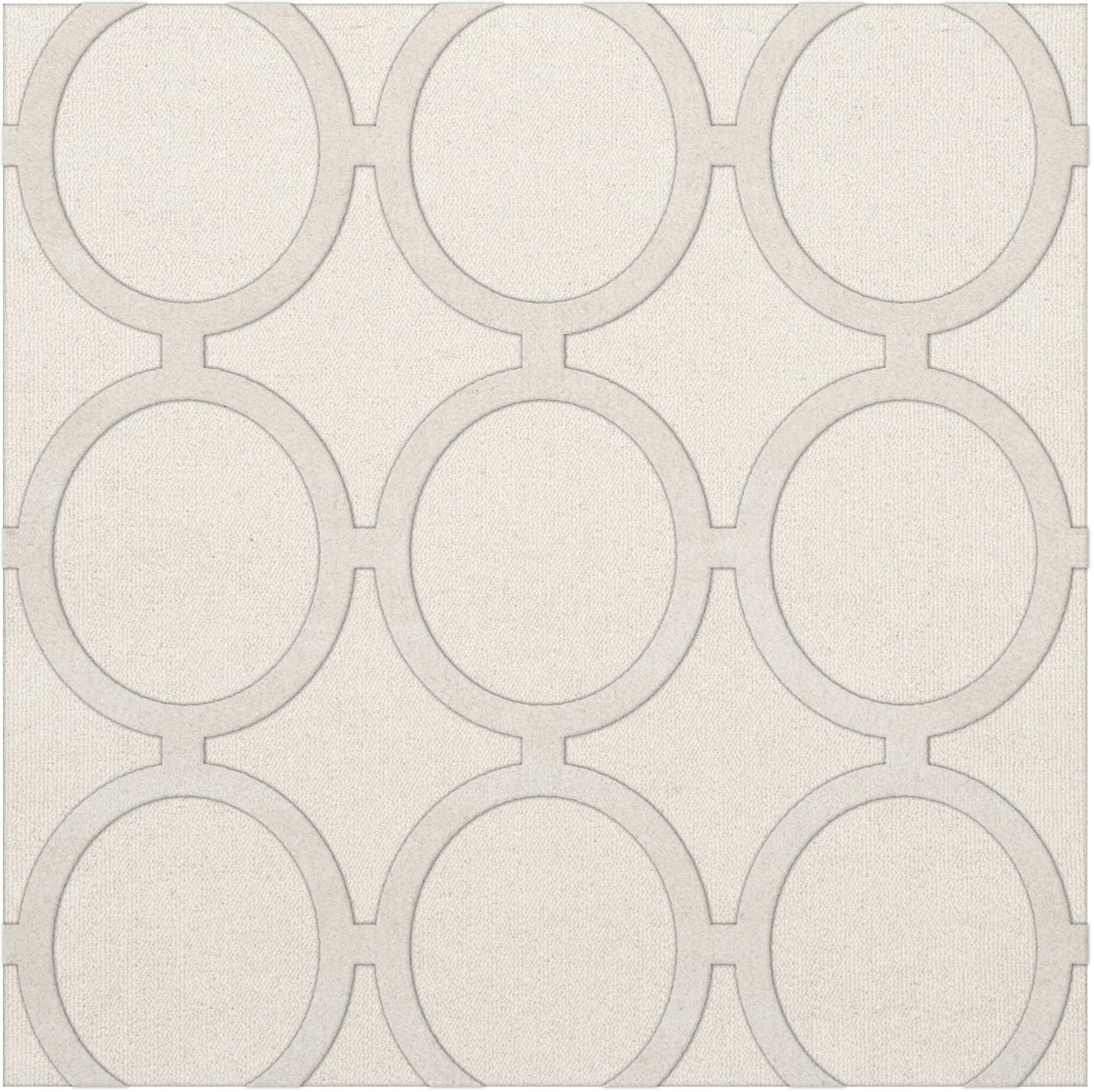 Dover Snow Area Rug Rug Size: Square 6'
