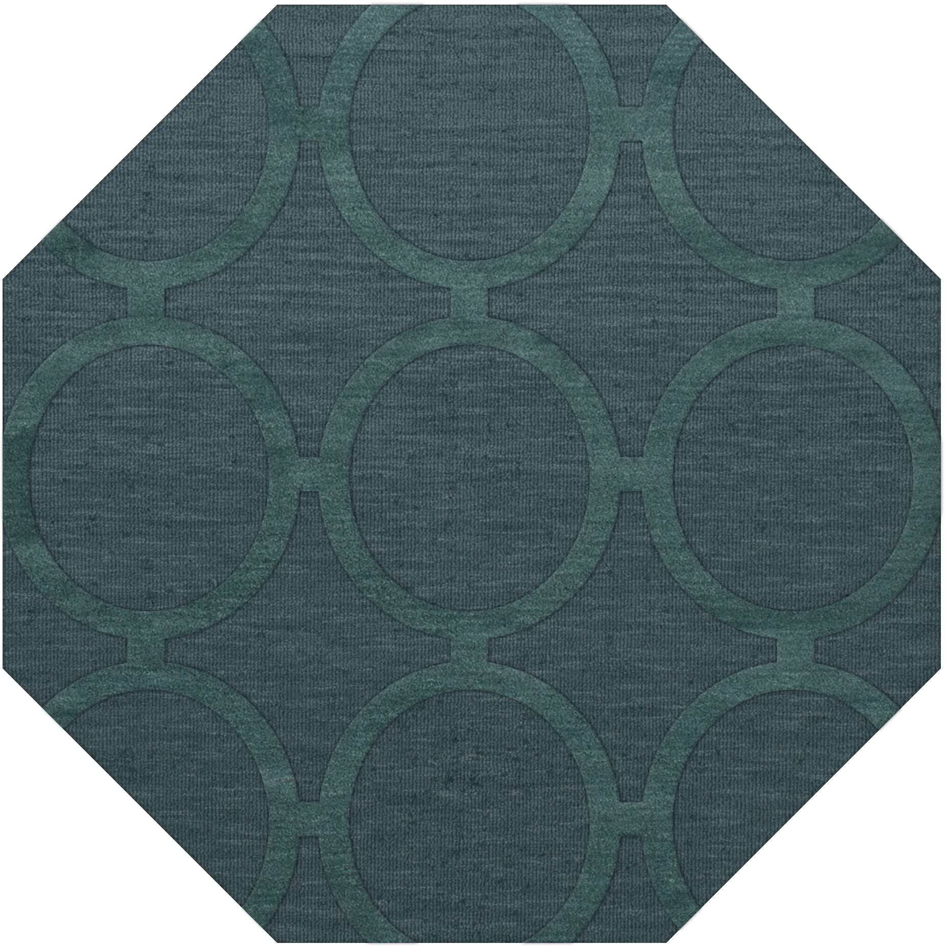 Dover Tufted Wool Teal Area Rug Rug Size: Octagon 8'