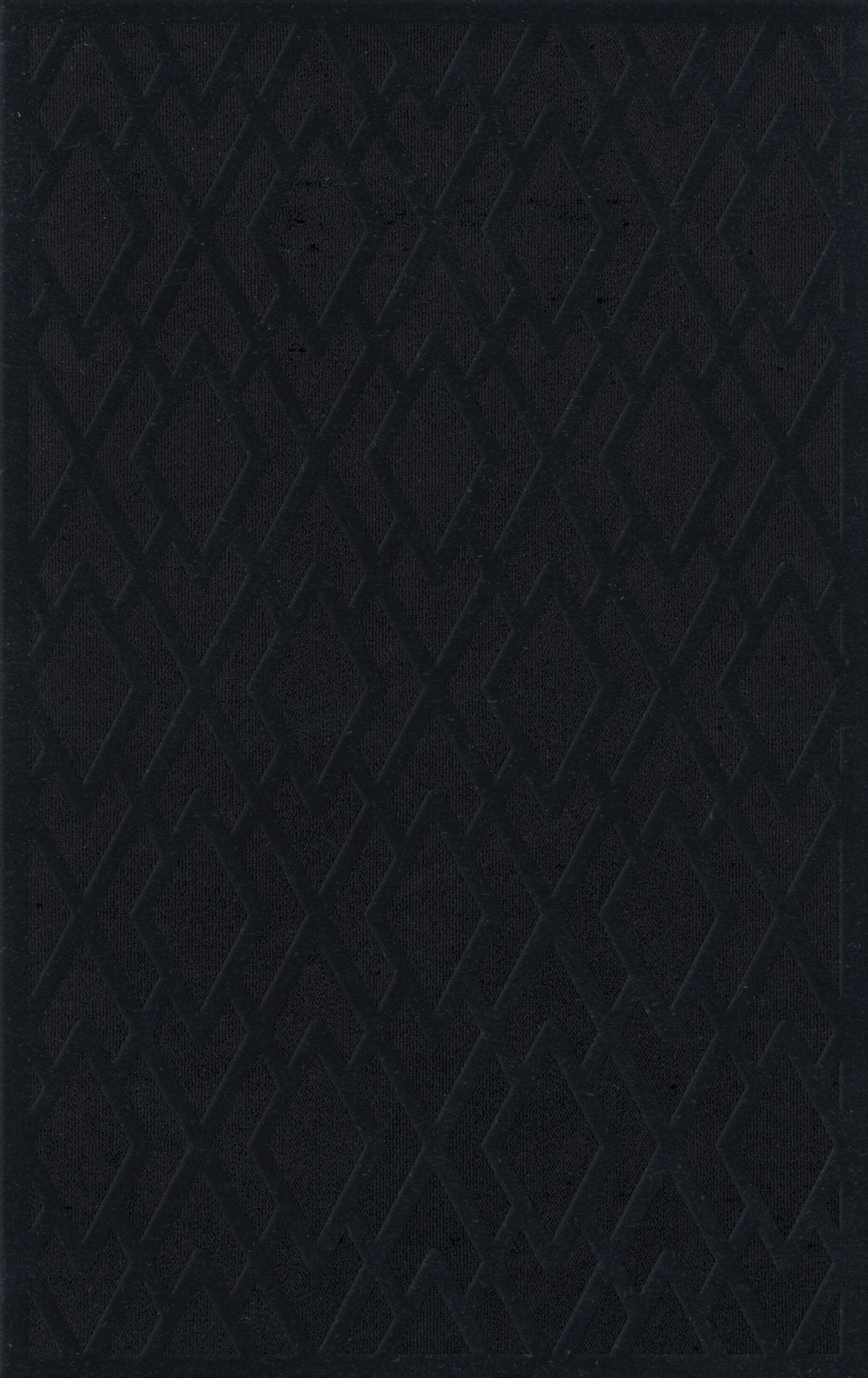Dover Black Area Rug Rug Size: Rectangle 5' x 8'