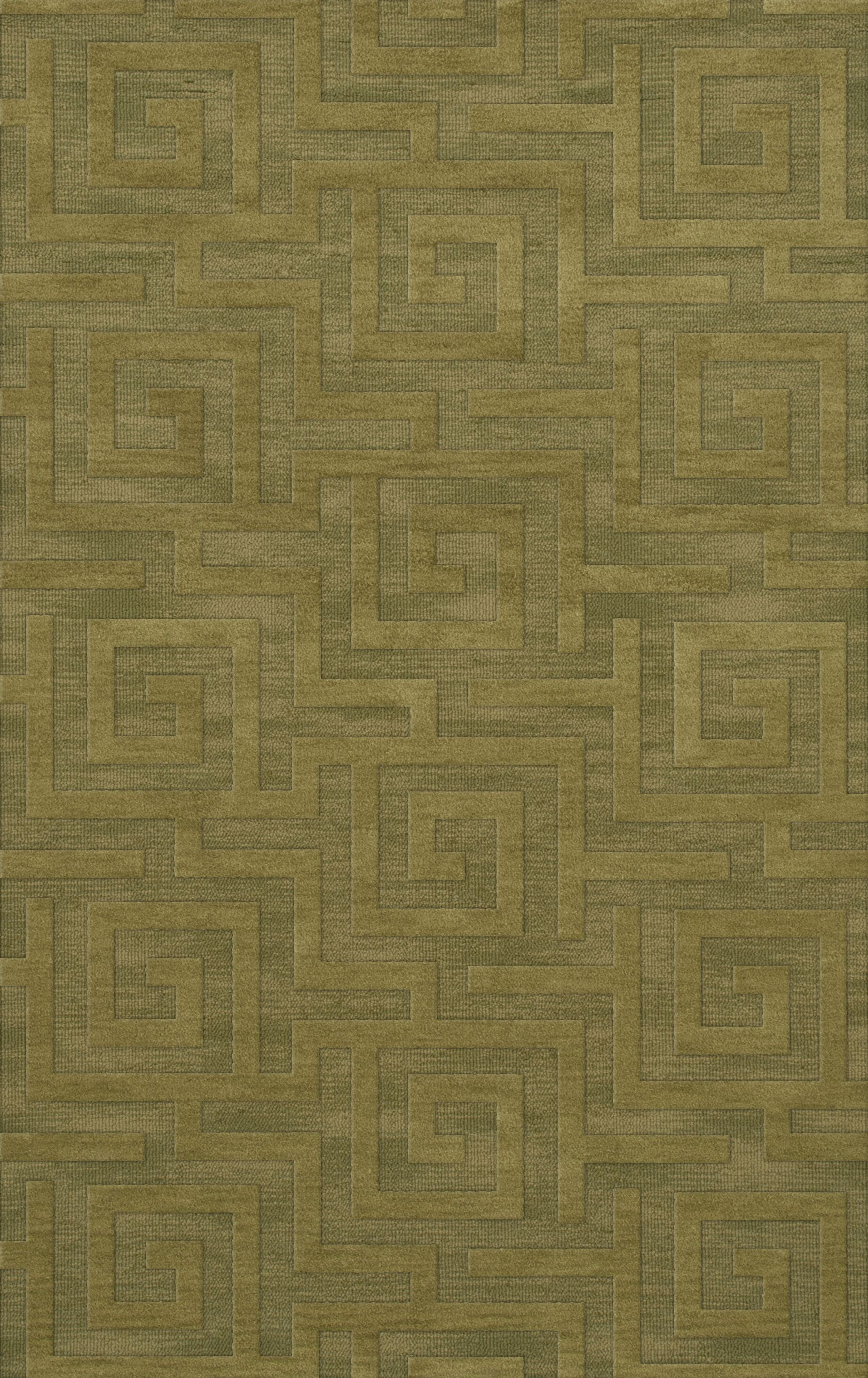 Dover Tufted Wool Pear Area Rug Rug Size: Rectangle 6' x 9'