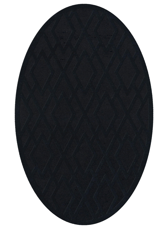 Dover Black Area Rug Rug Size: Oval 12' x 18'