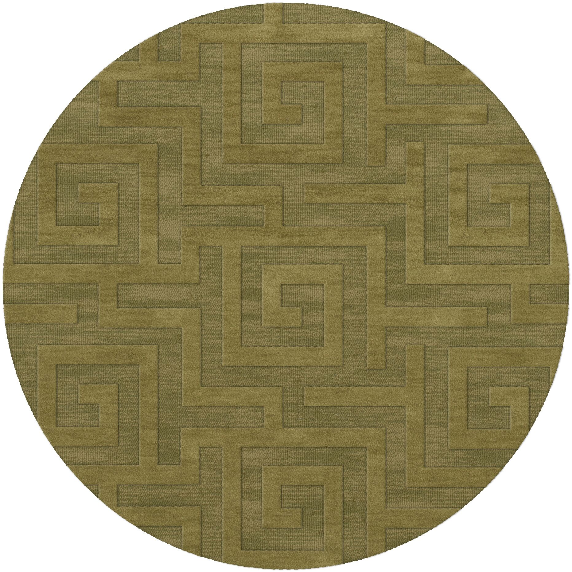 Dover Tufted Wool Pear Area Rug Rug Size: Round 10'
