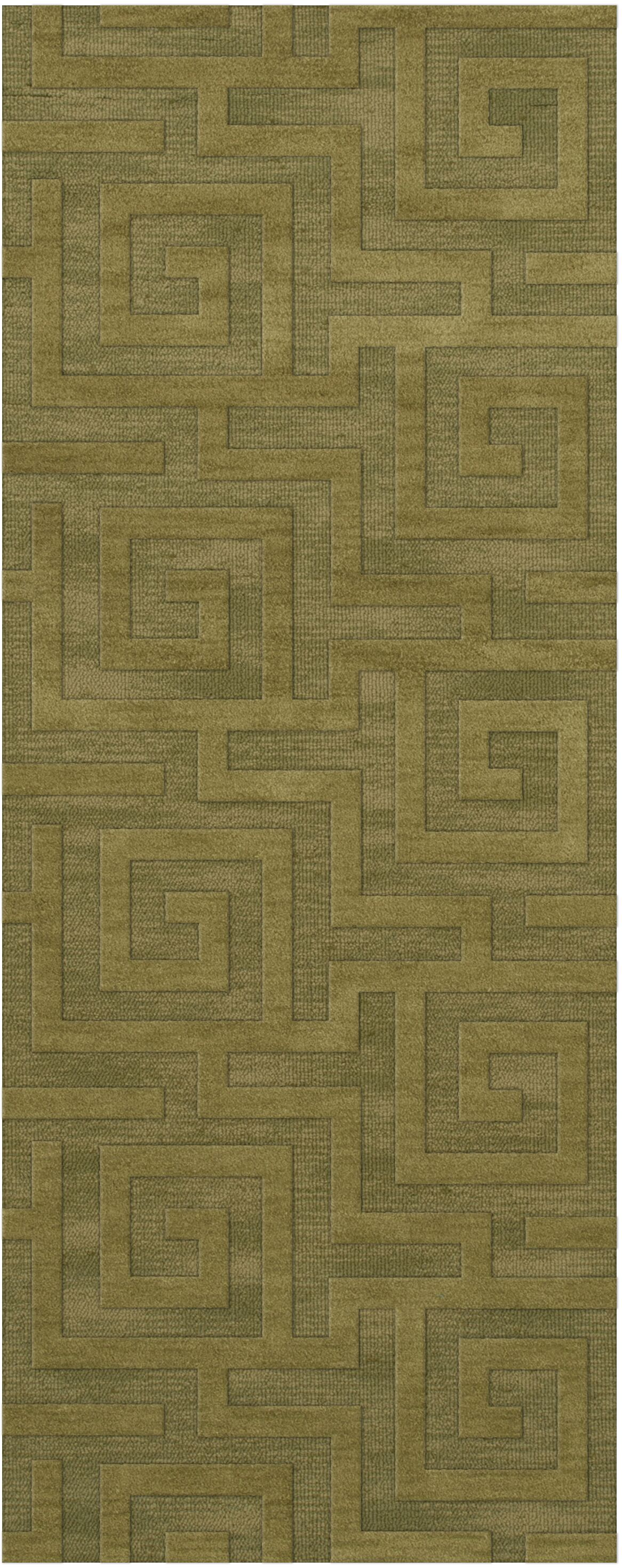 Dover Tufted Wool Pear Area Rug Rug Size: Runner 2'6