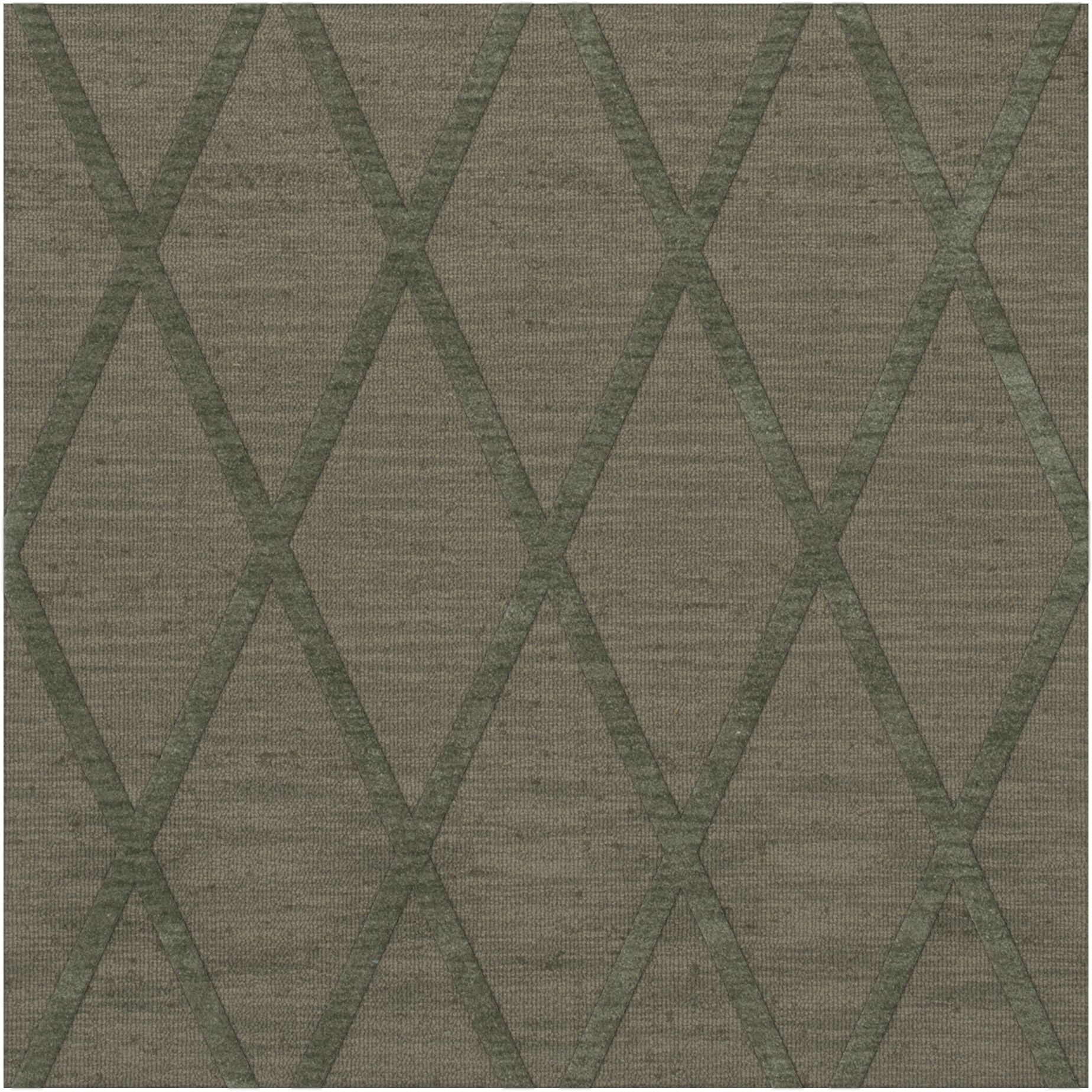 Dover Tufted Wool Aloe Area Rug Rug Size: Square 8'