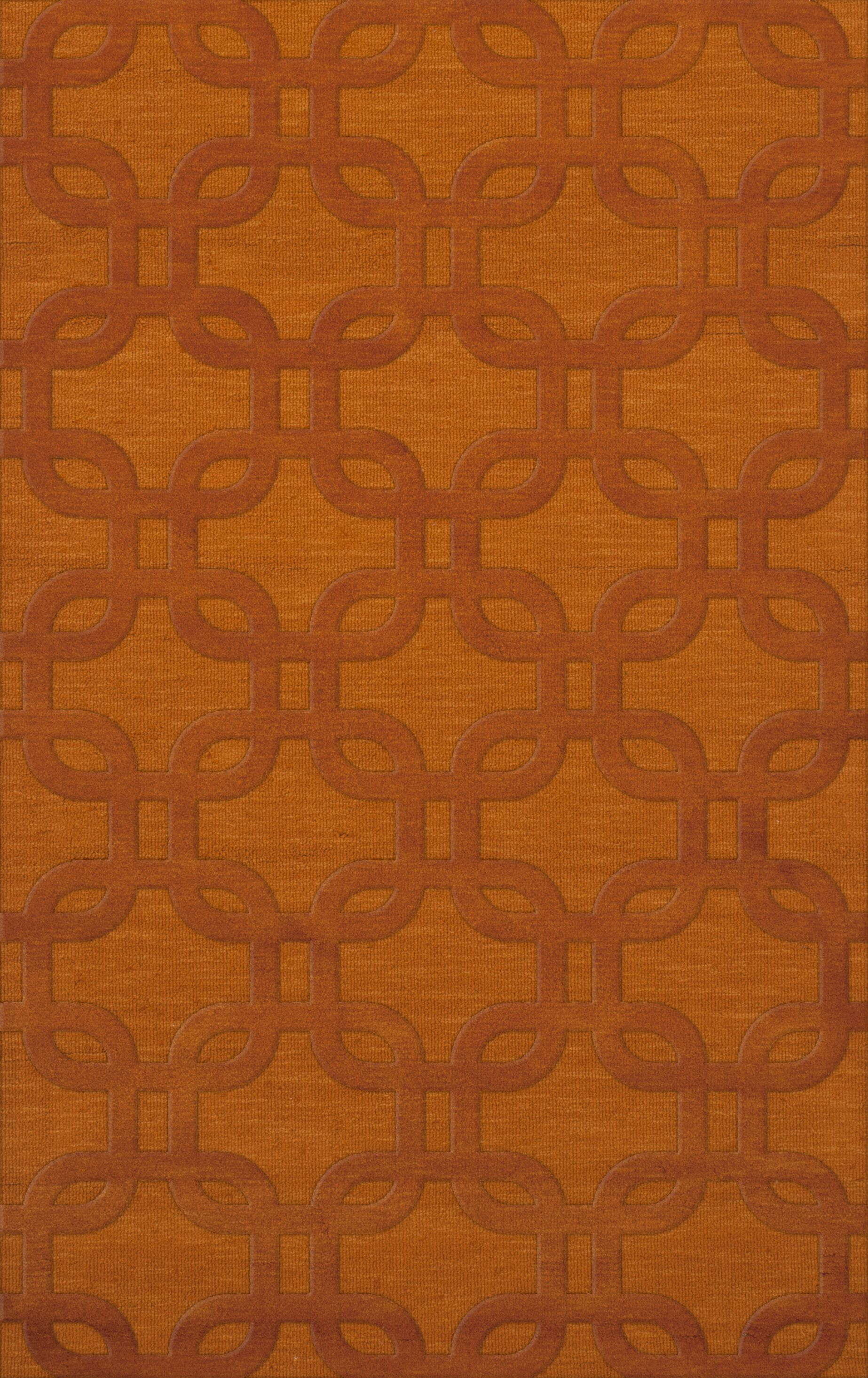 Dover Orange Area Rug Rug Size: Rectangle 8' x 10'