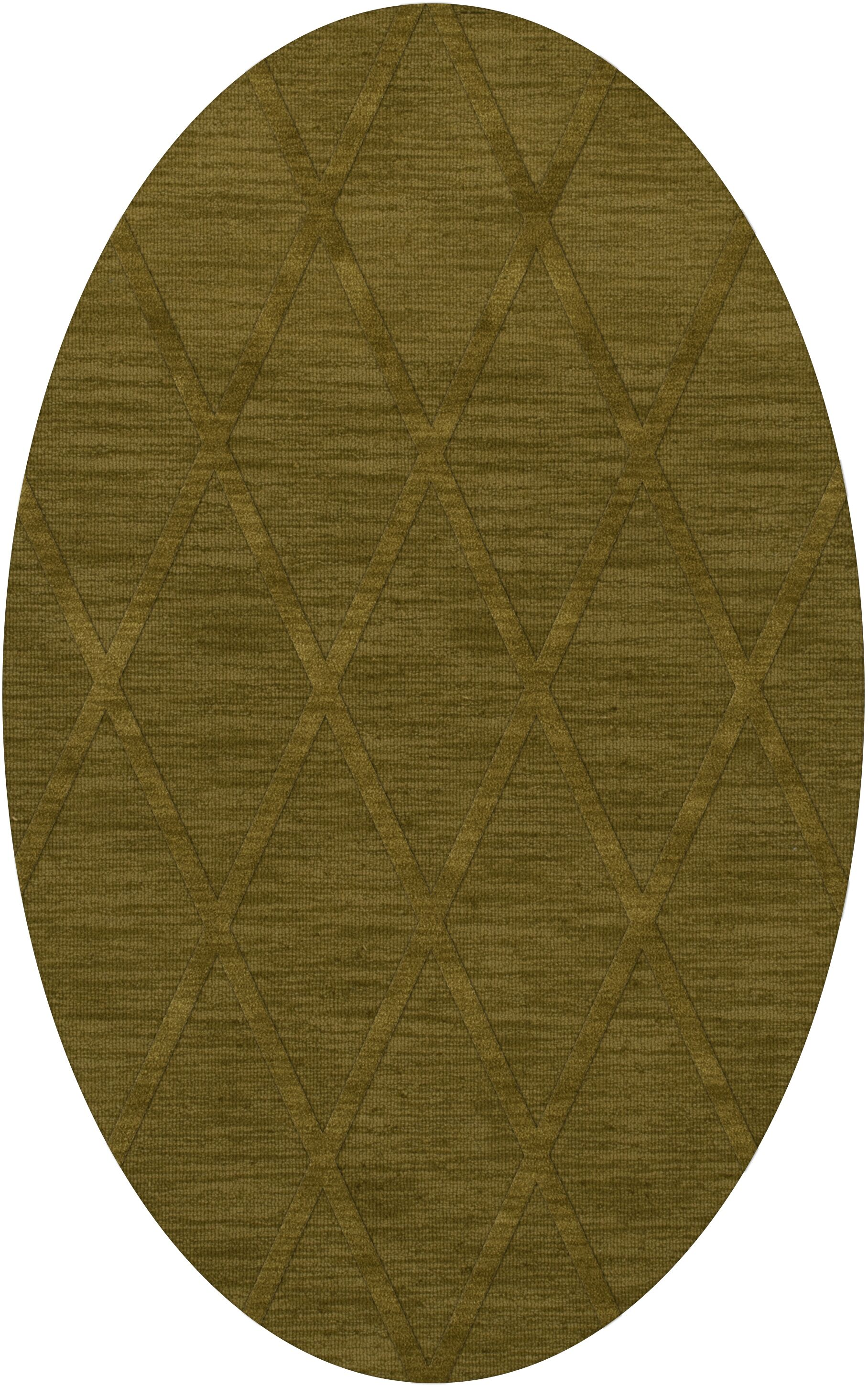 Dover Tufted Wool Avocado Area Rug Rug Size: Oval 10' x 14'
