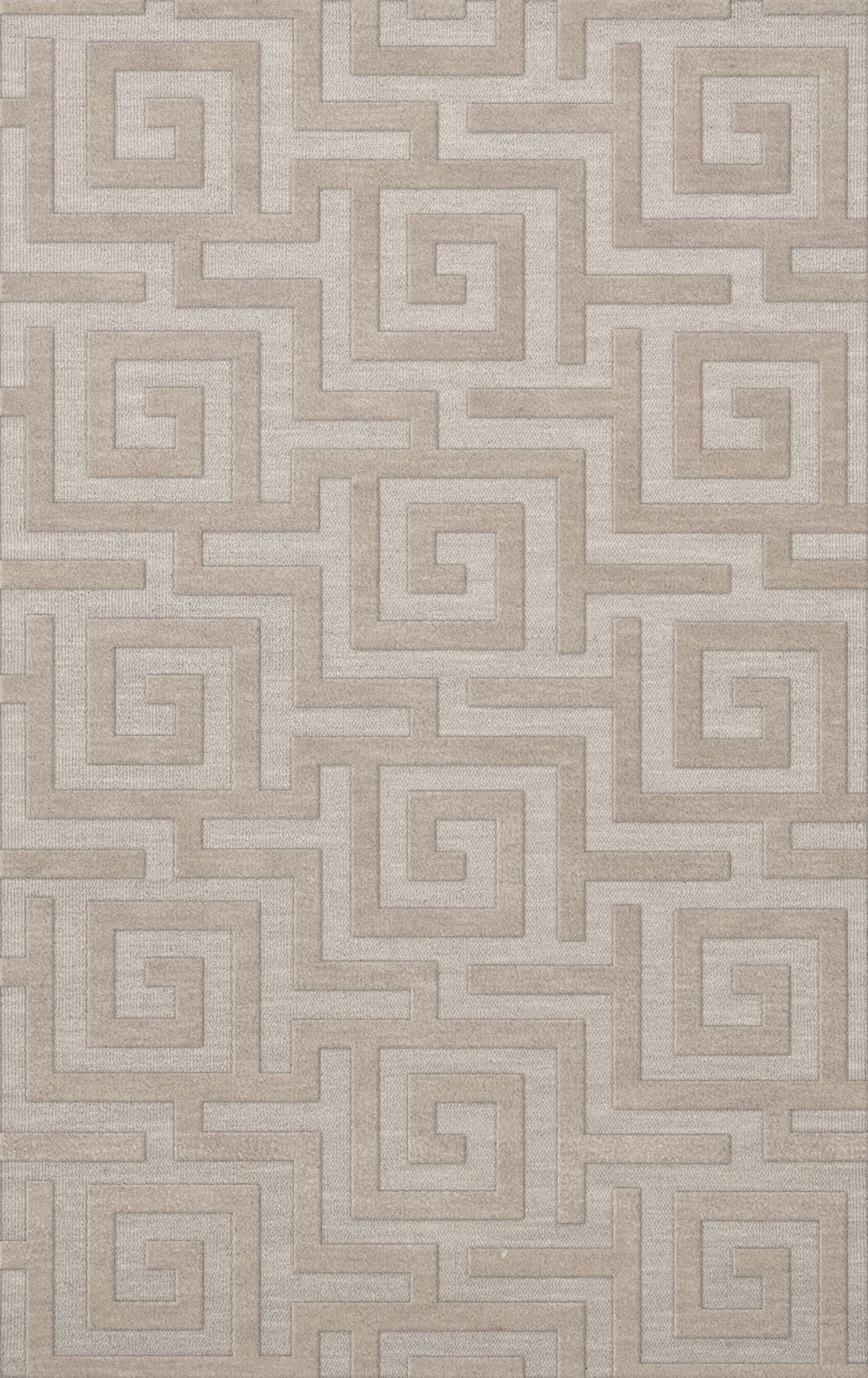 Dover Tufted Wool Putty Area Rug Rug Size: Rectangle 12' x 18'
