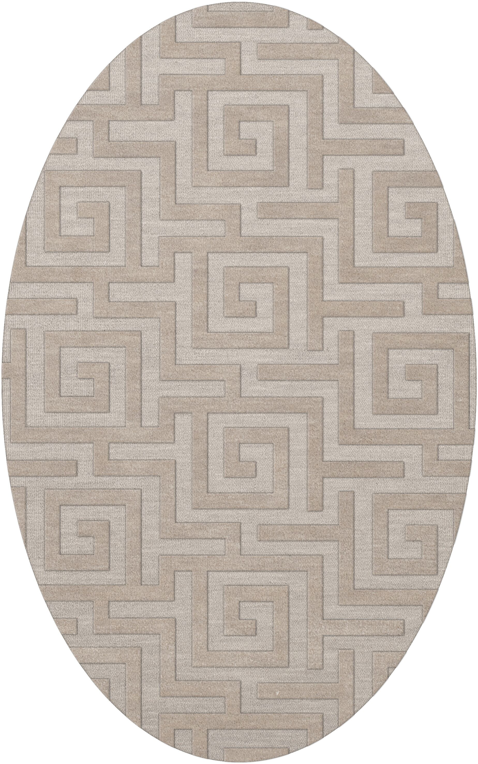 Dover Tufted Wool Putty Area Rug Rug Size: Oval 4' x 6'