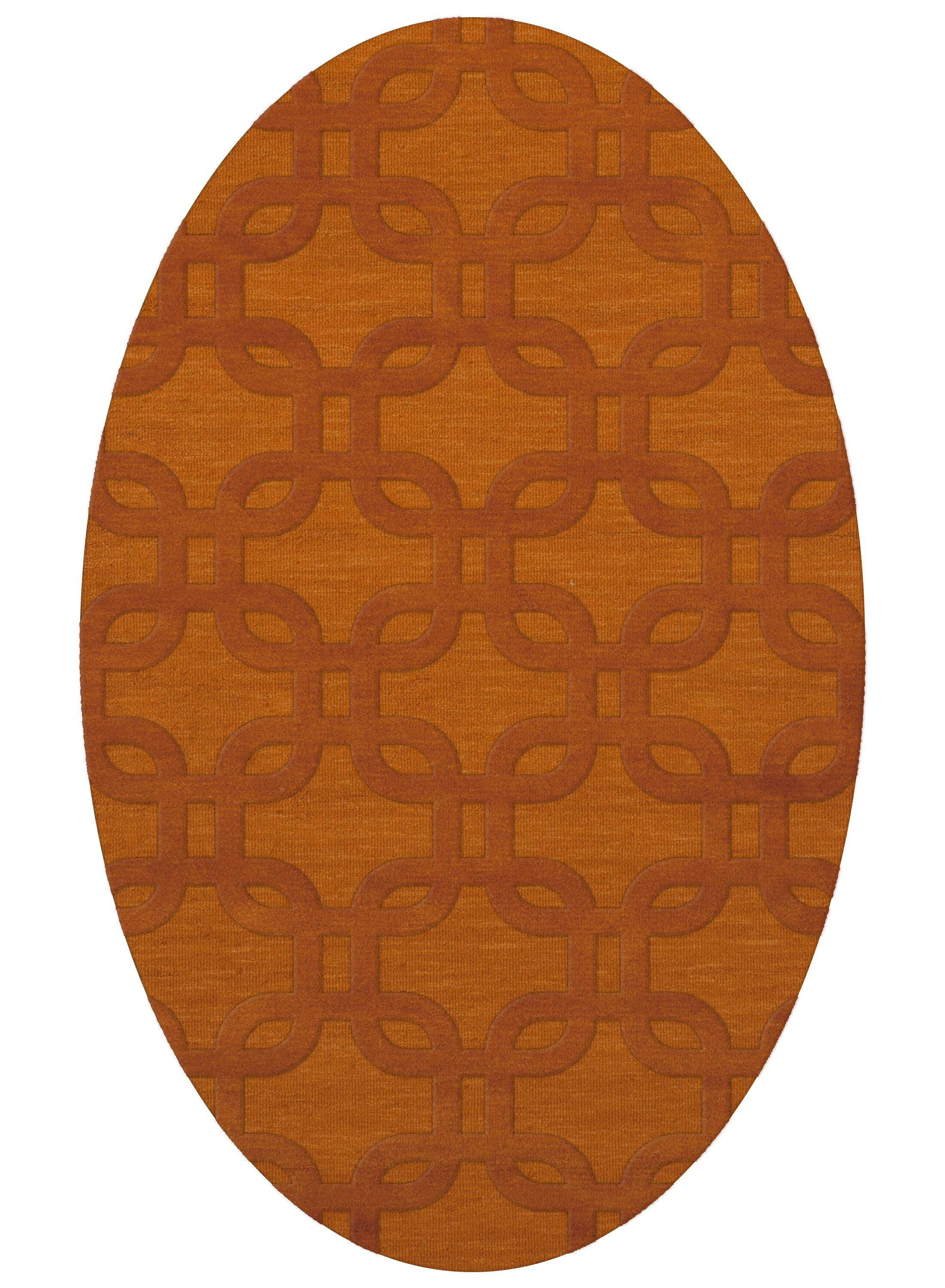 Dover Orange Area Rug Rug Size: Oval 9' x 12'