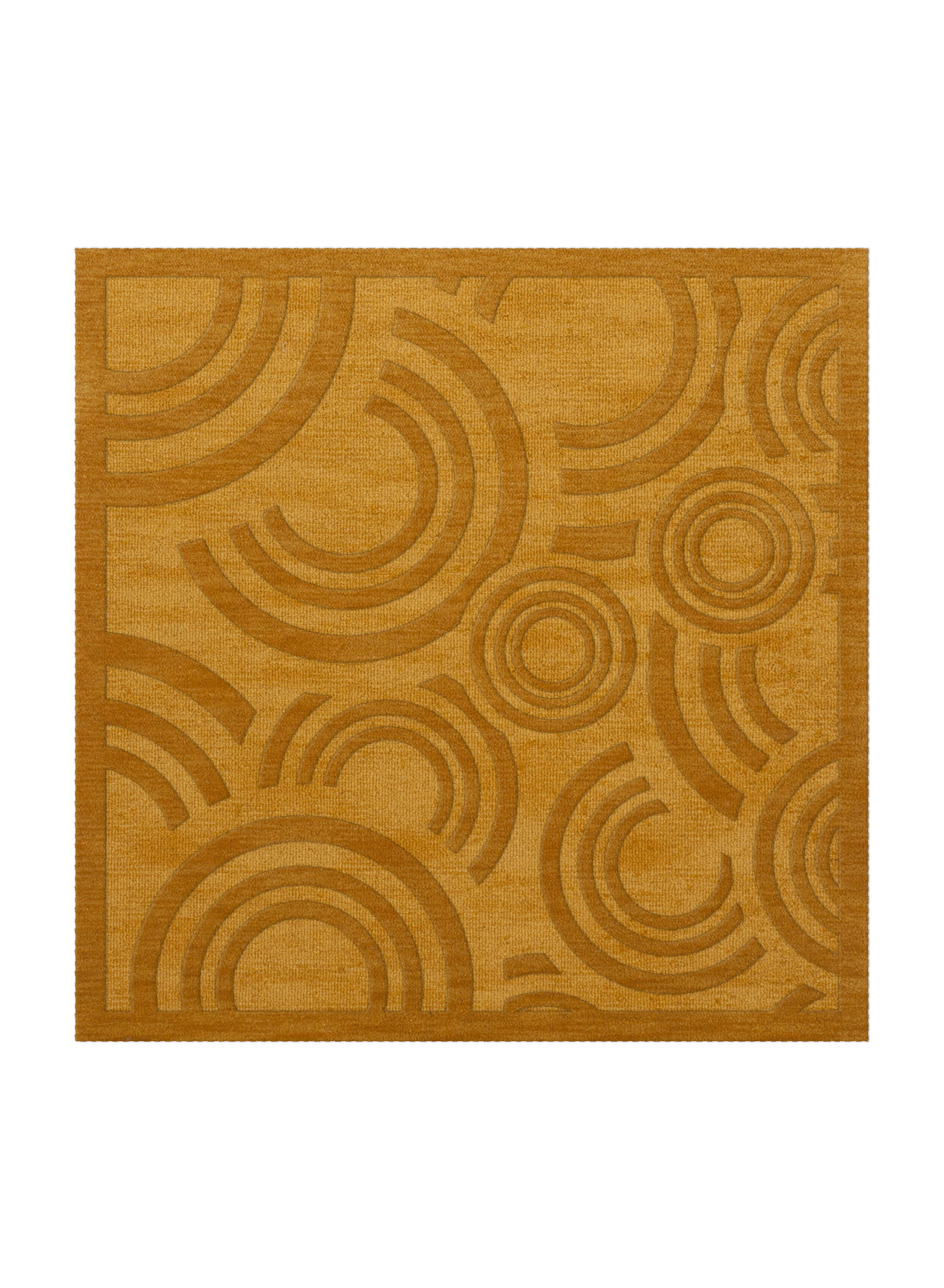 Dover Tufted Wool Butterscotch Area Rug Rug Size: Square 12'
