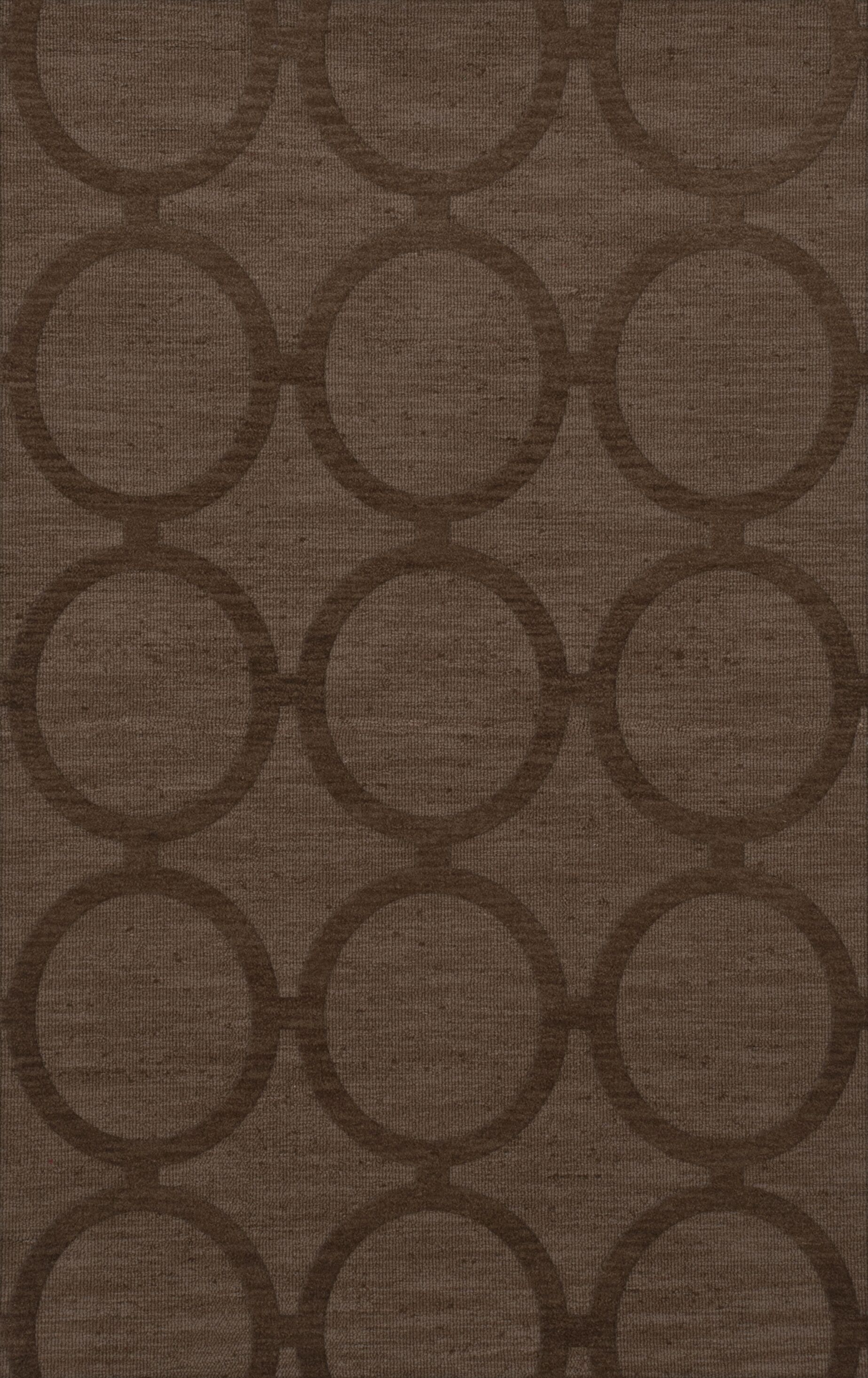Dover Tufted Wool Mocha Area Rug Rug Size: Rectangle 3' x 5'