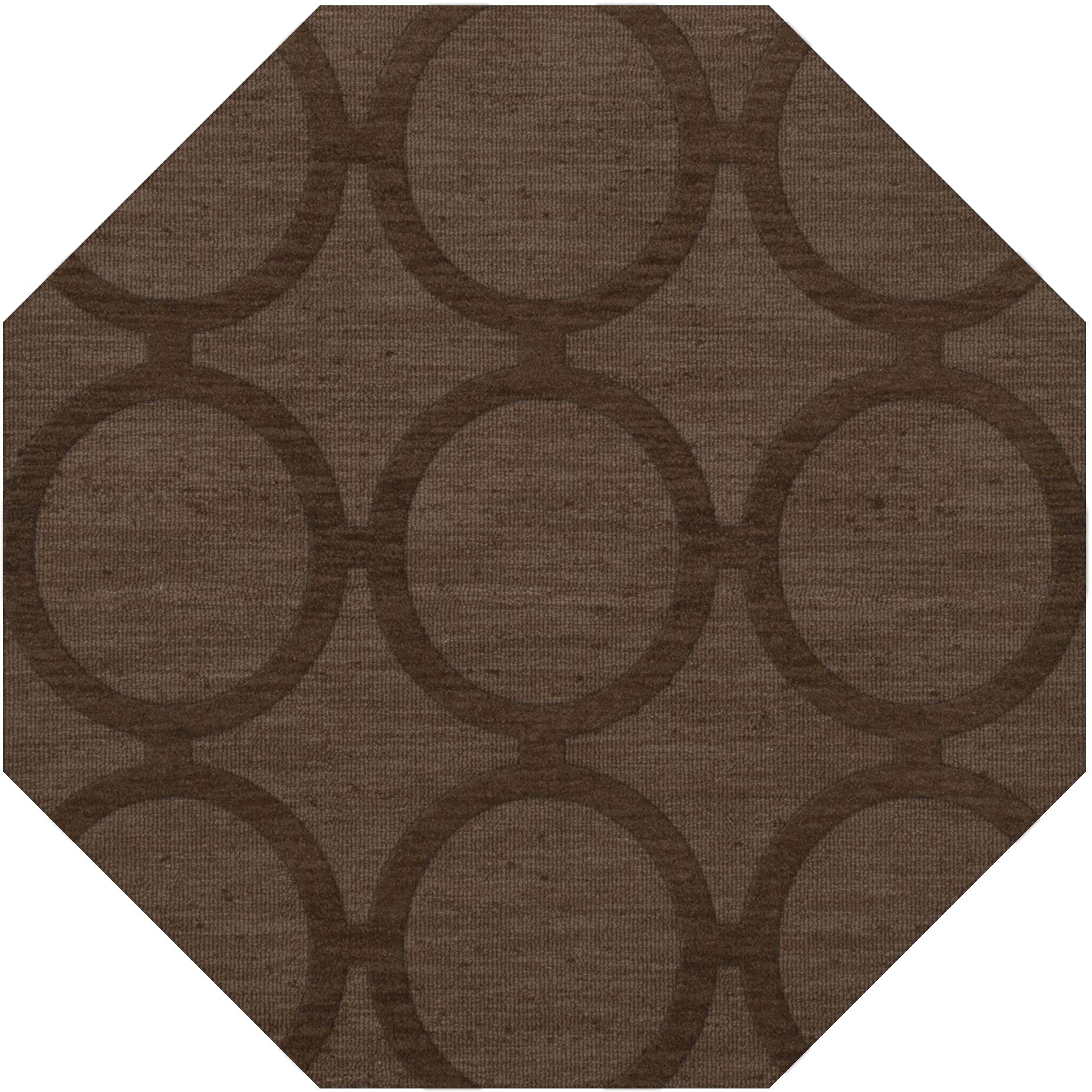 Dover Tufted Wool Mocha Area Rug Rug Size: Octagon 12'