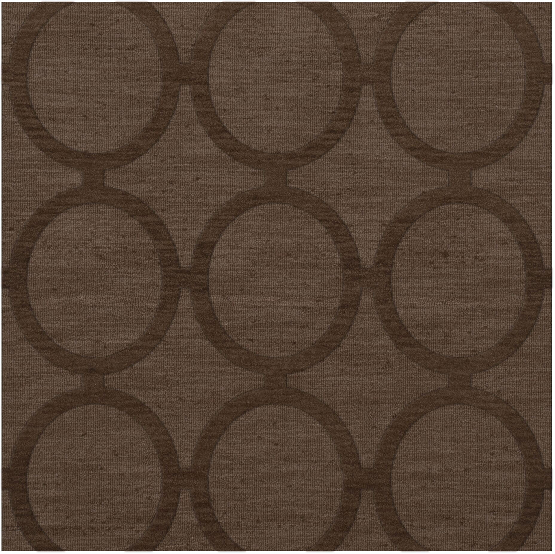 Dover Tufted Wool Mocha Area Rug Rug Size: Square 8'