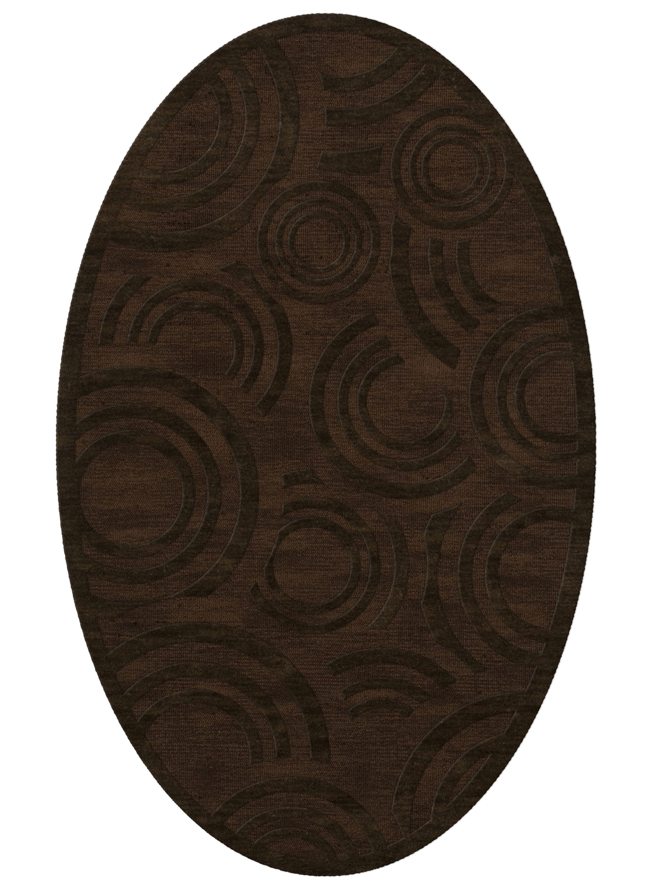 Dover Tufted Wool Fudge Area Rug Rug Size: Oval 6' x 9'
