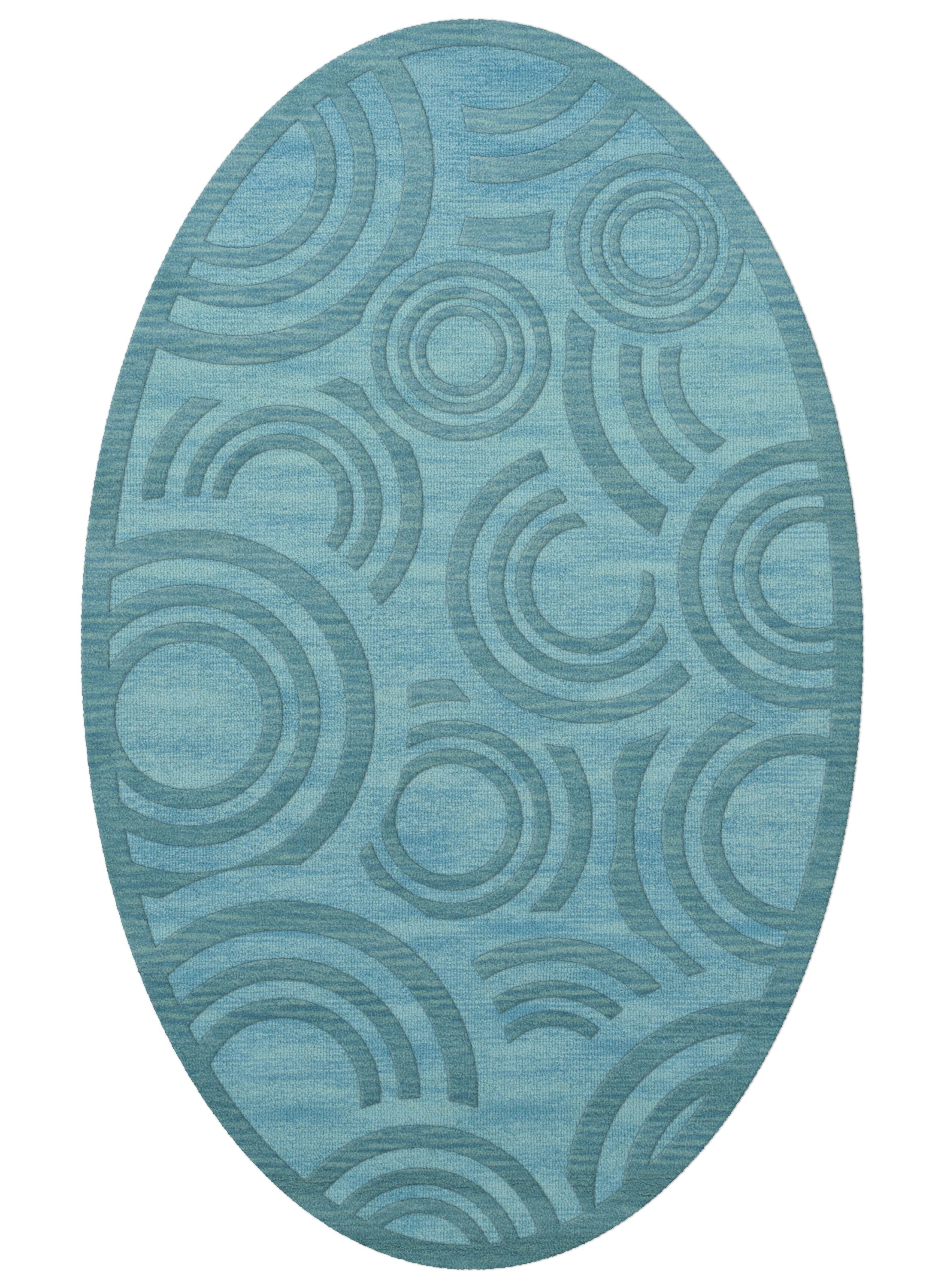 Dover Peacock Area Rug Rug Size: Oval 9' x 12'