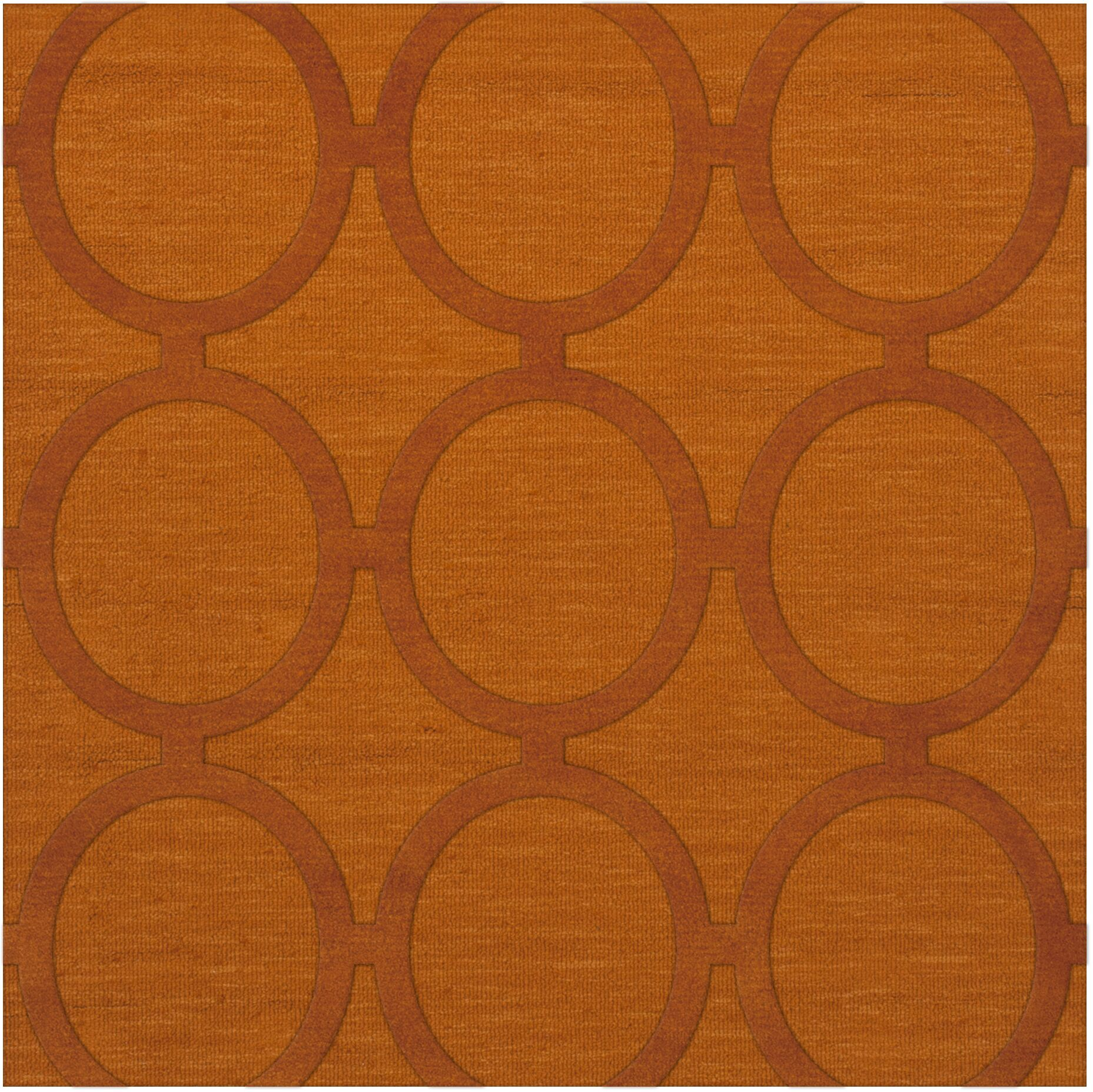 Dover Orange Area Rug Rug Size: Square 8'