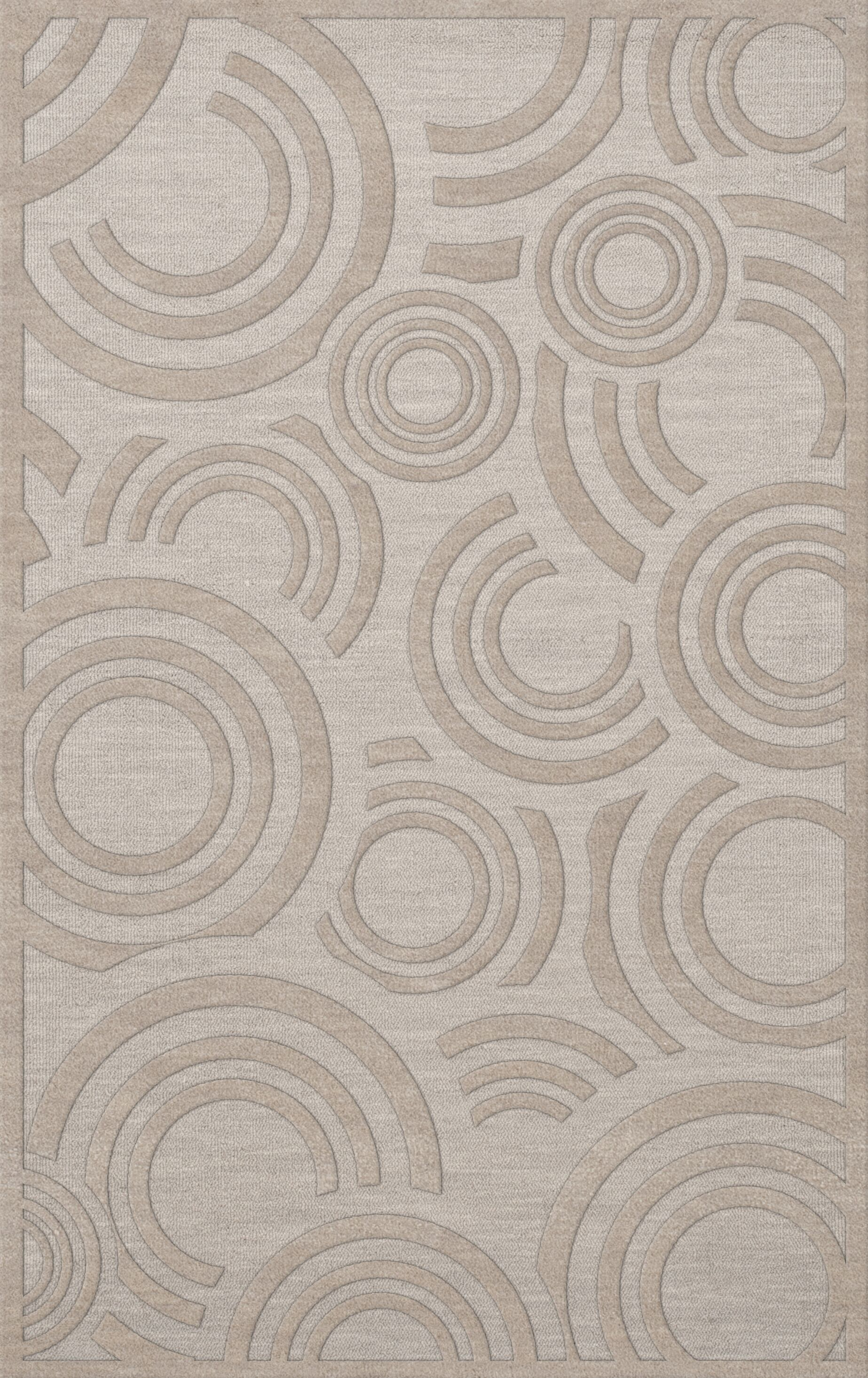 Dover Tufted Wool Putty Area Rug Rug Size: Rectangle 10' x 14'