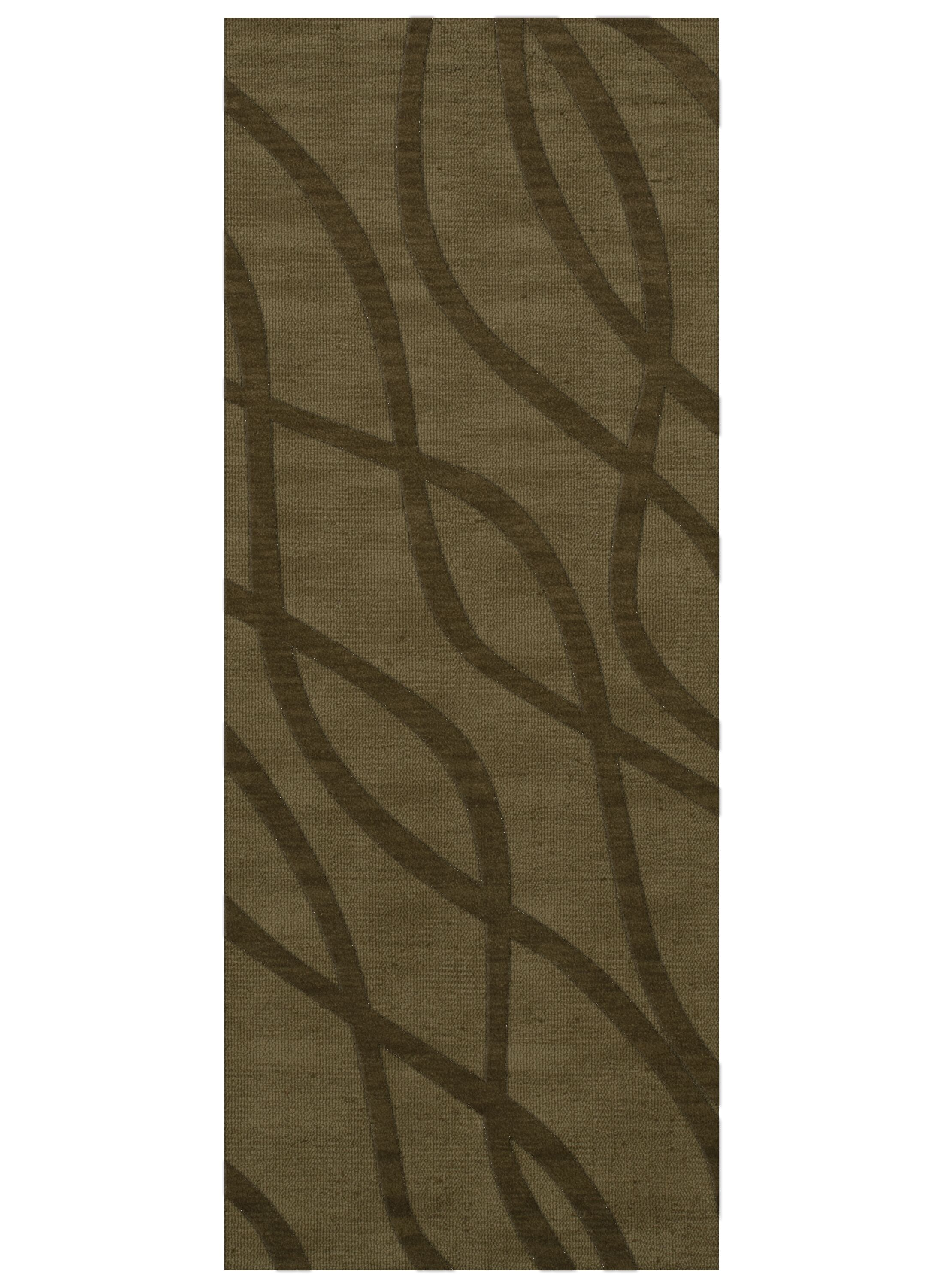 Dover Tufted Wool Leaf Area Rug Rug Size: Runner 2'6