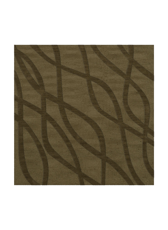 Dover Tufted Wool Leaf Area Rug Rug Size: Square 6'