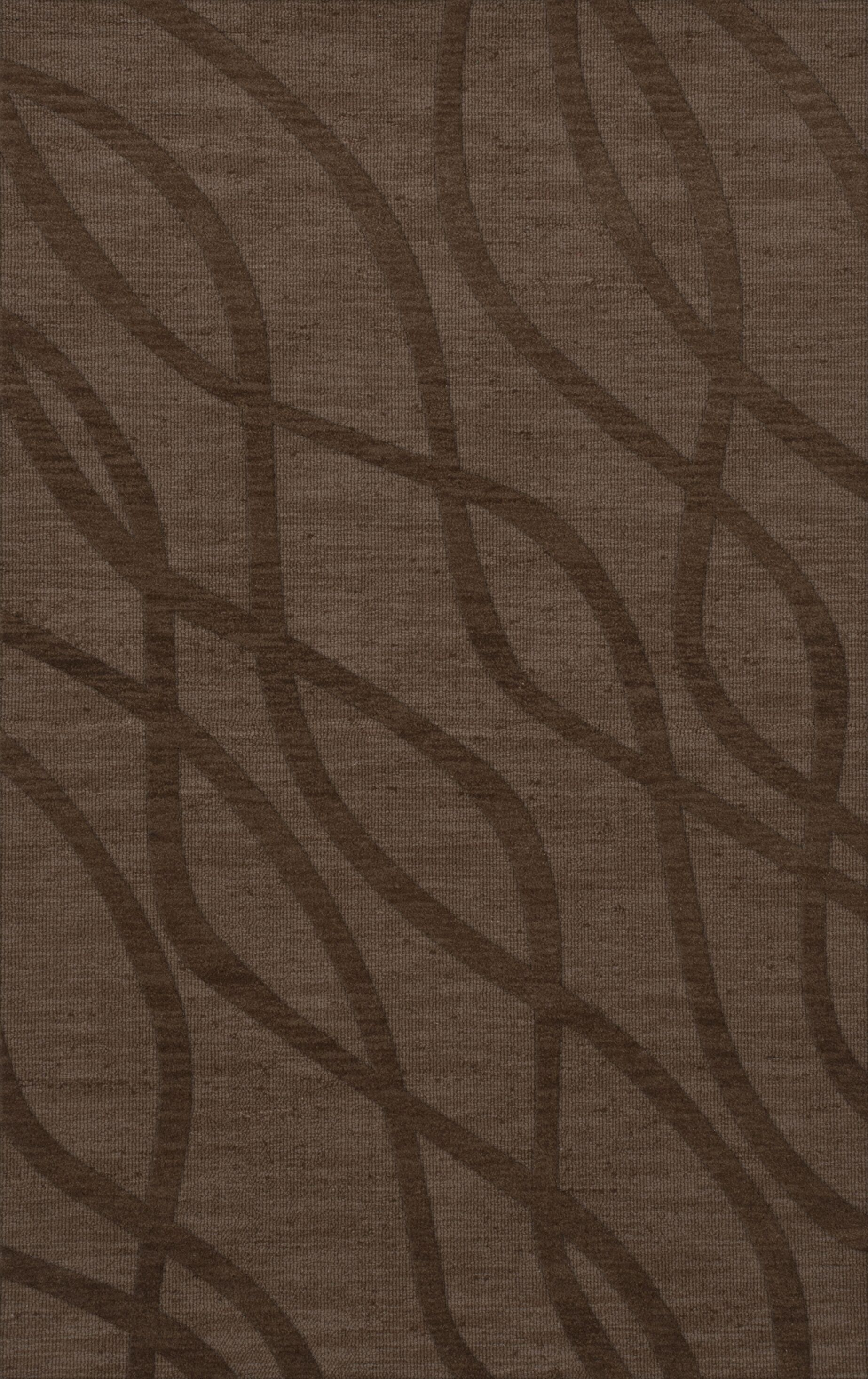 Dover Tufted Wool Mocha Area Rug Rug Size: Rectangle 10' x 14'