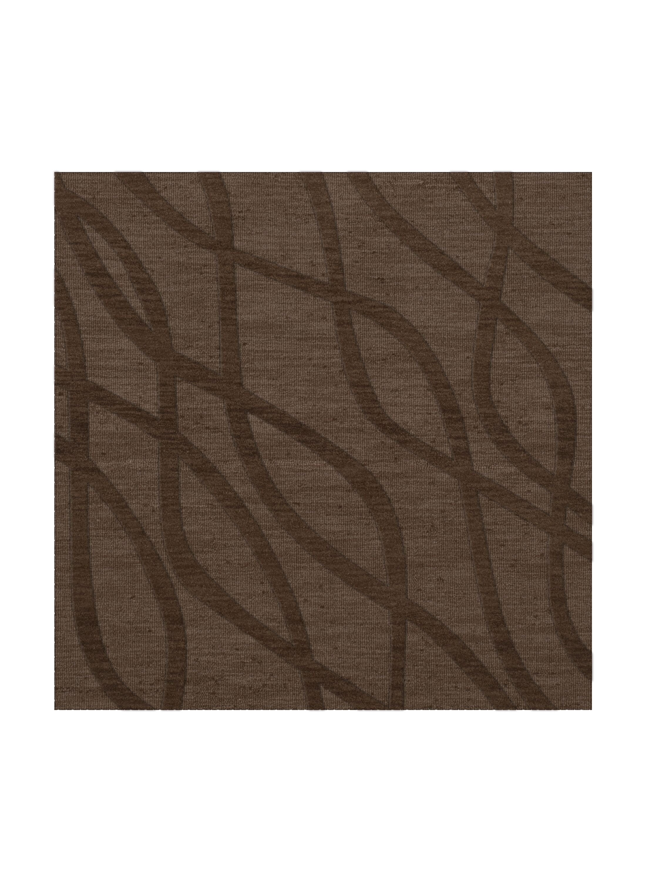 Dover Tufted Wool Mocha Area Rug Rug Size: Square 6'