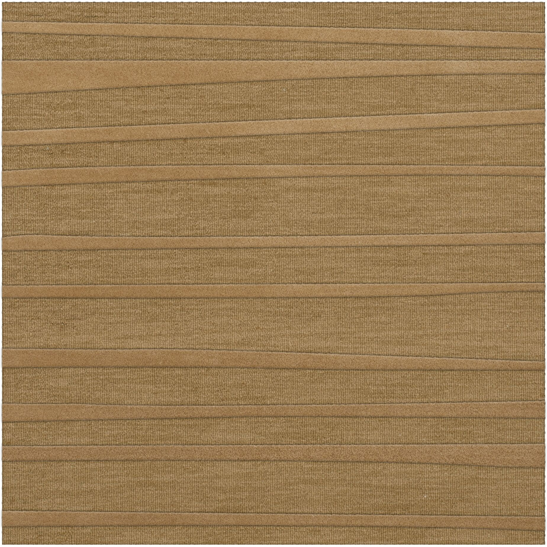 Dover Tufted Wool Wheat Area Rug Rug Size: Square 12'