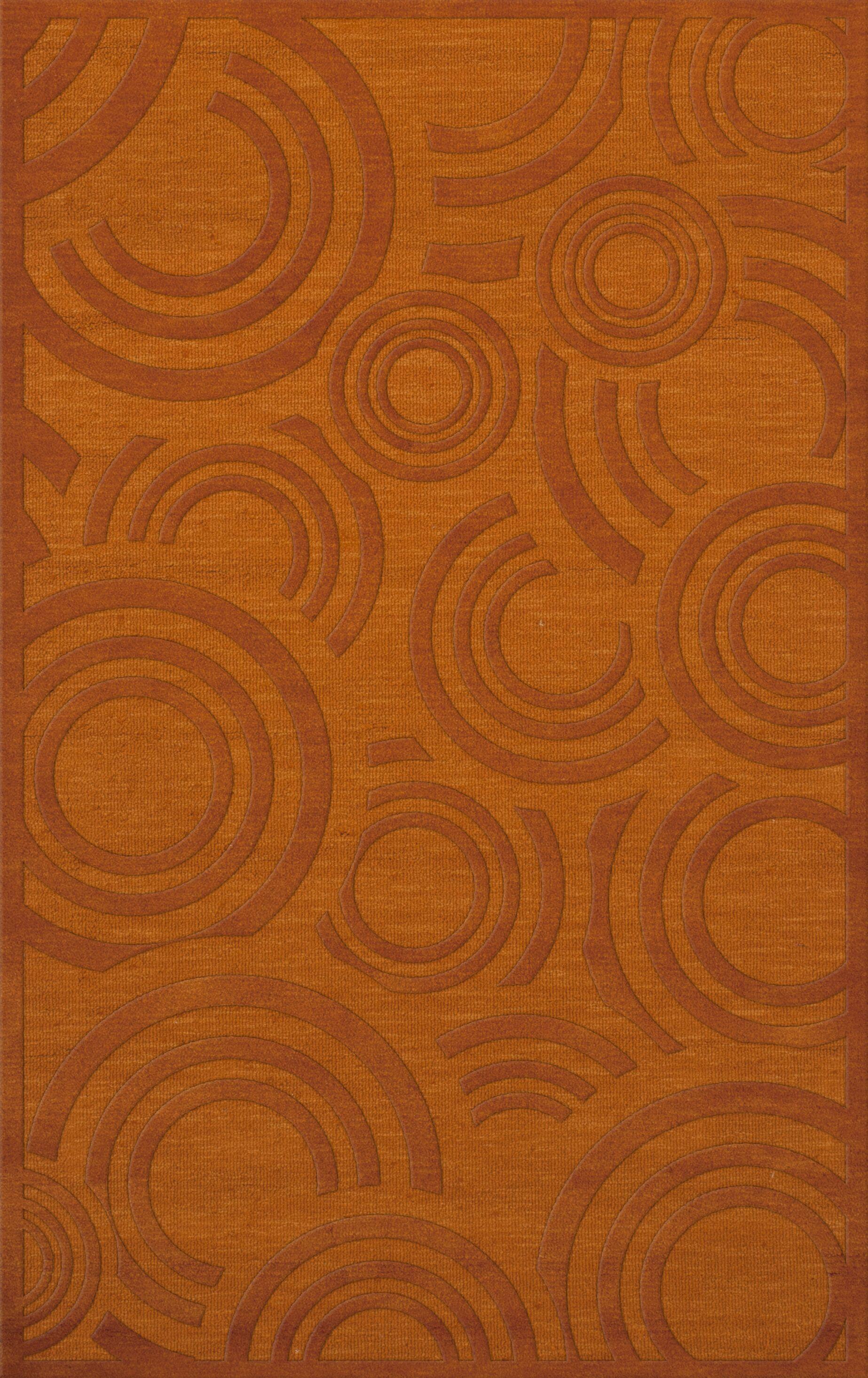 Dover Tufted Wool Orange Area Rug Rug Size: Rectangle 6' x 9'
