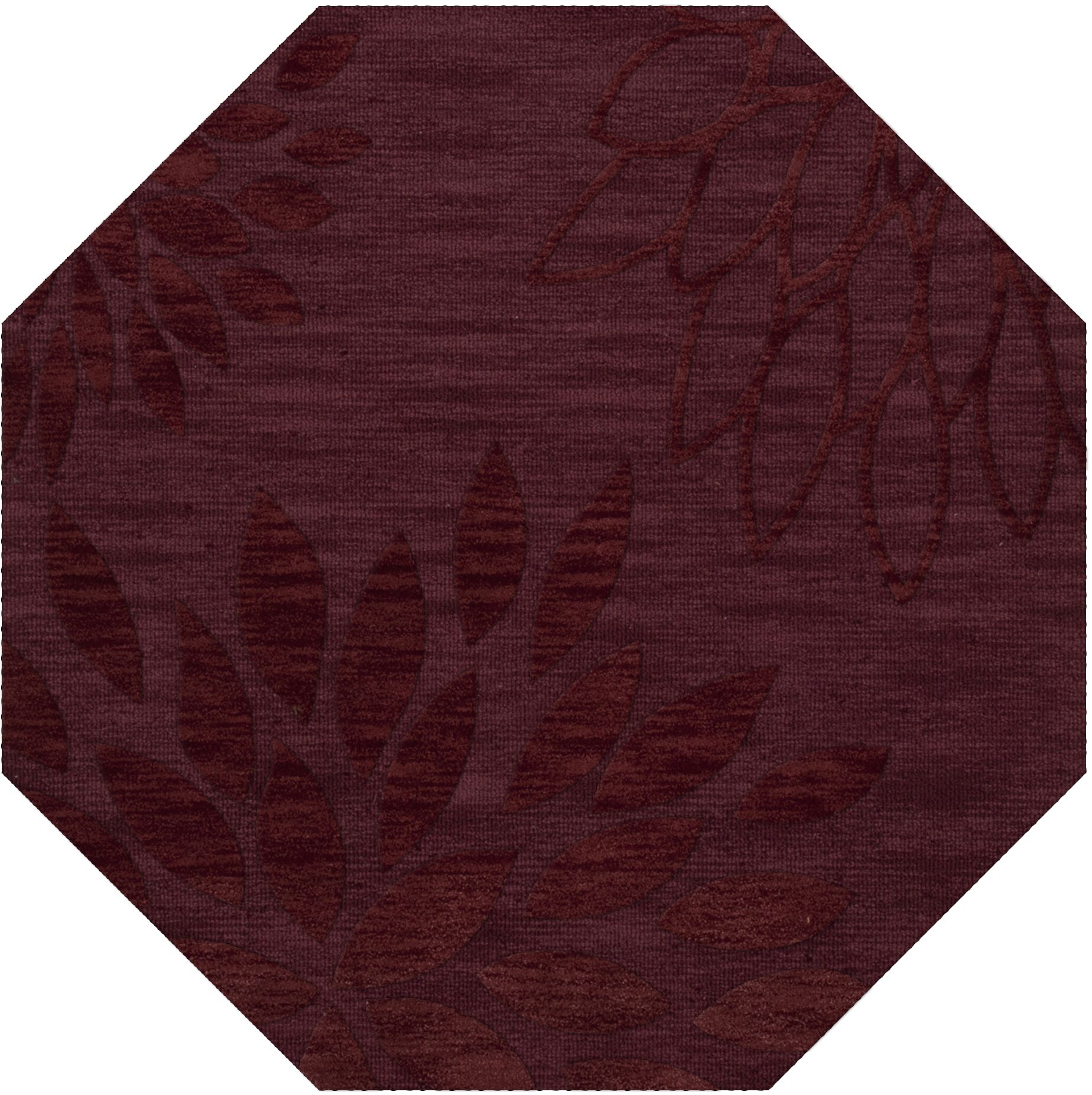 Bao Burgundy Area Rug Rug Size: Octagon 4'