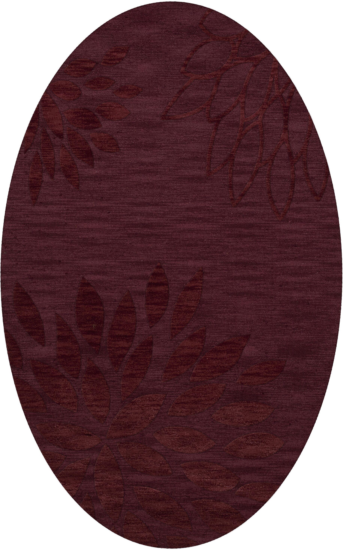 Bao Burgundy Area Rug Rug Size: Oval 12' x 15'