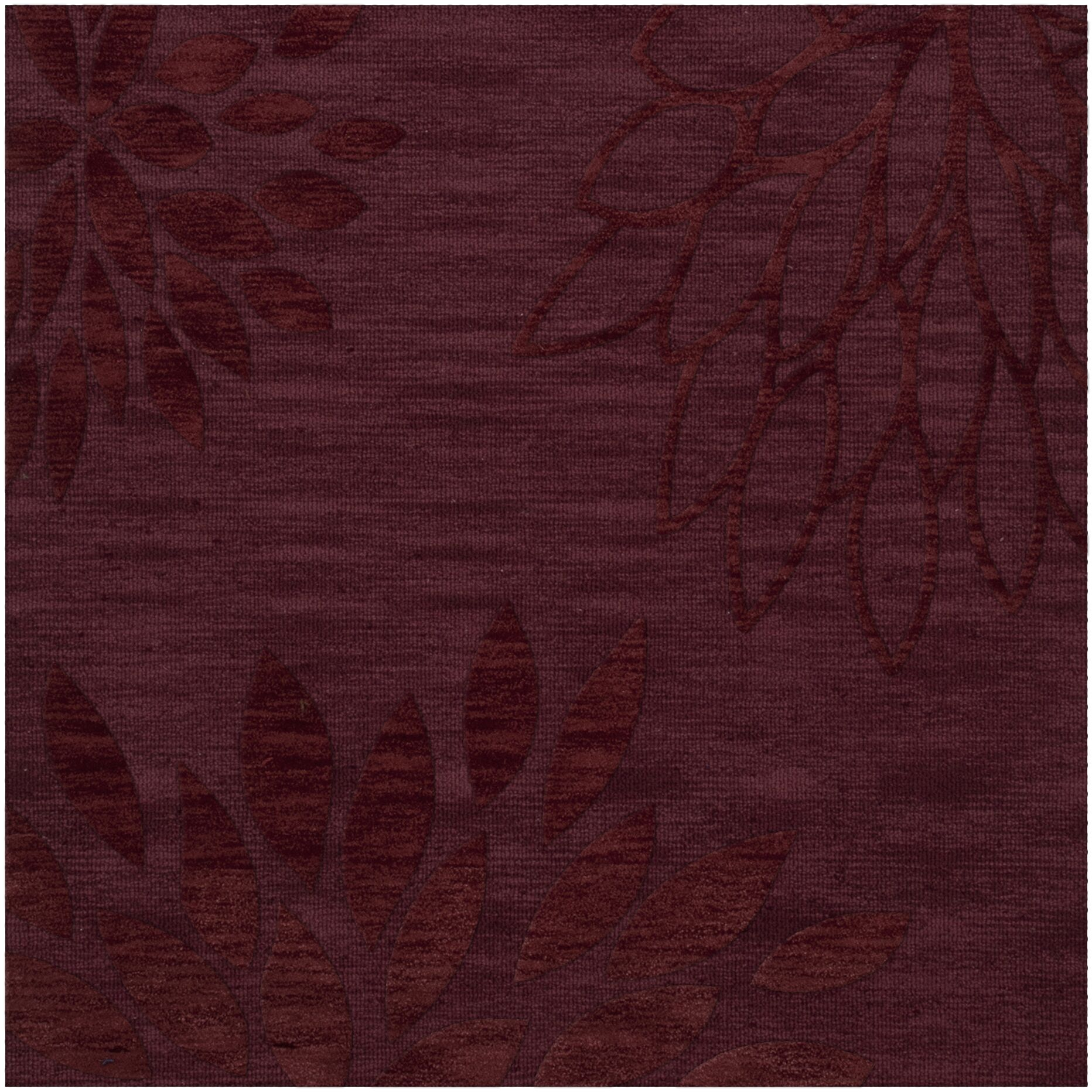 Bao Burgundy Area Rug Rug Size: Square 6'