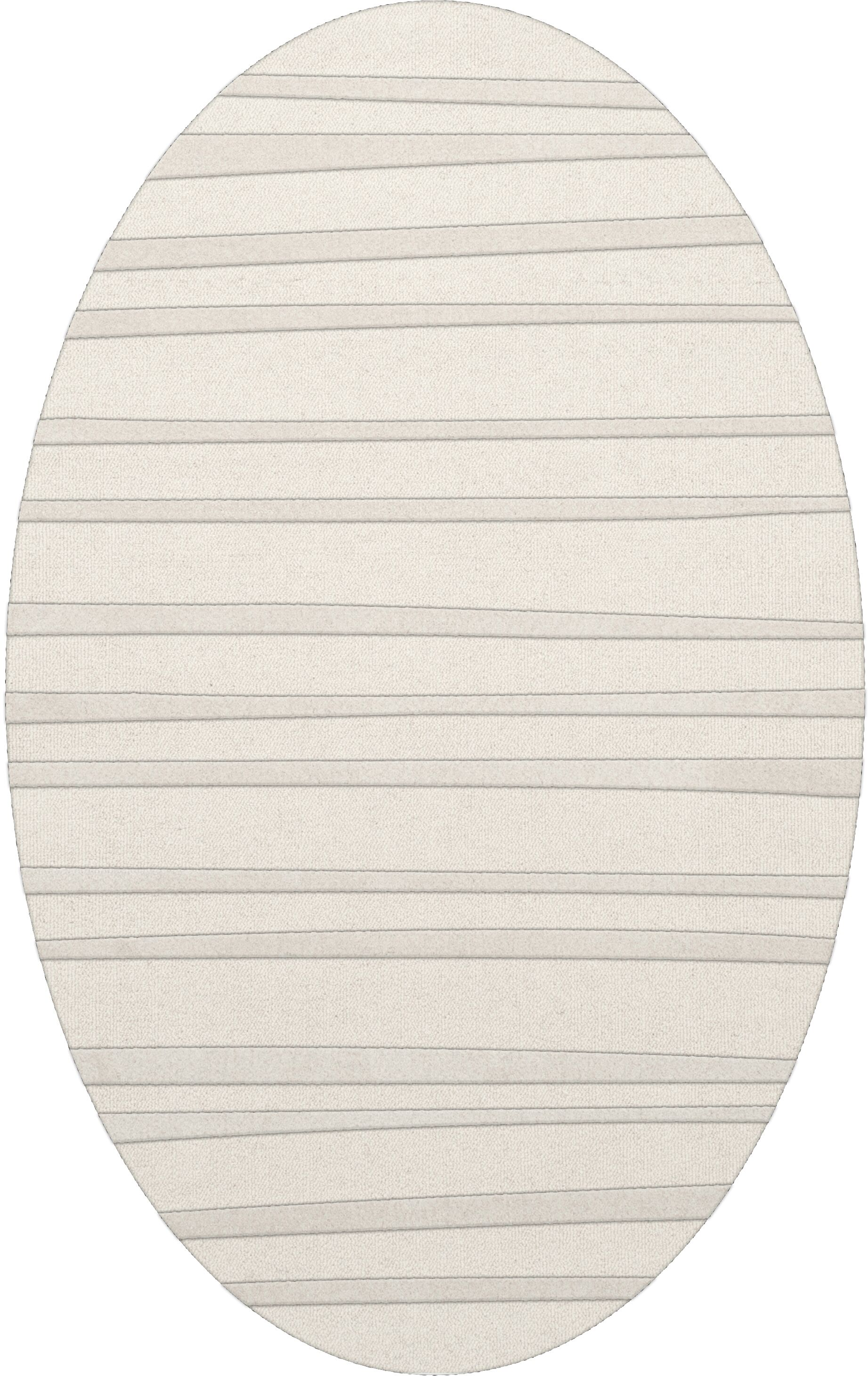 Dover Tufted Wool Snow Area Rug Rug Size: Oval 8' x 10'