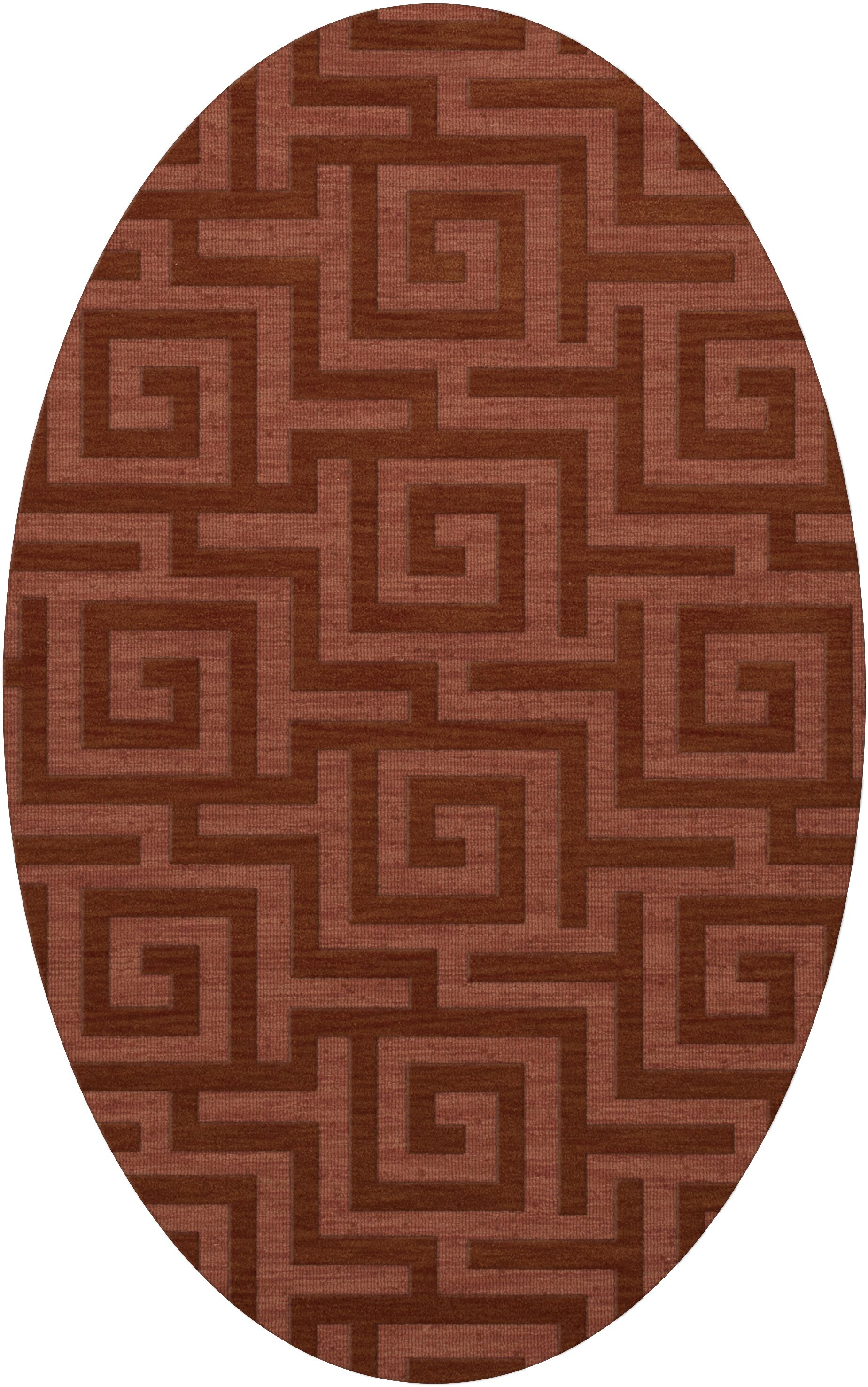 Dover Tufted Wool Coral Area Rug Rug Size: Oval 9' x 12'