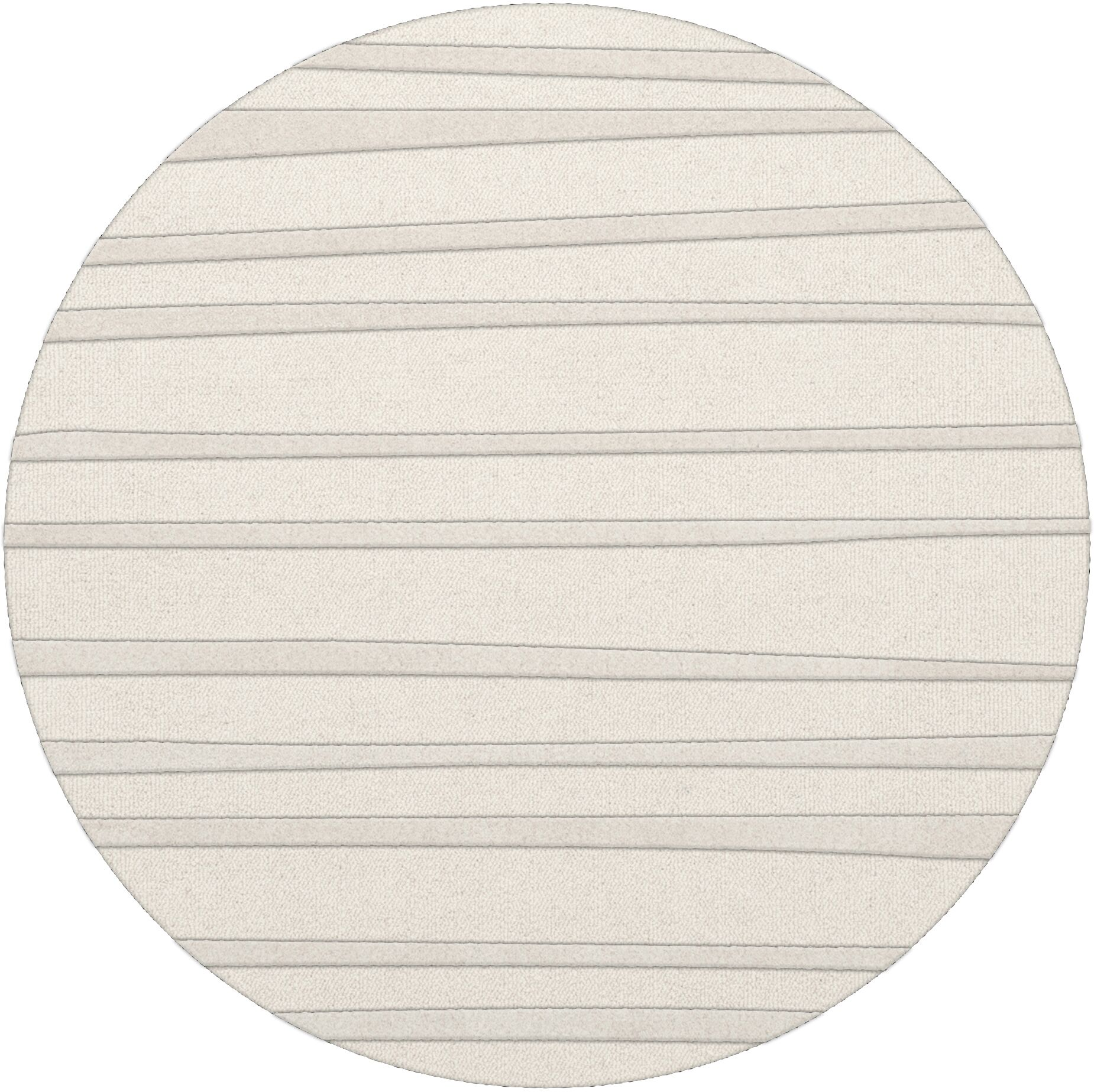 Dover Tufted Wool Snow Area Rug Rug Size: Round 8'