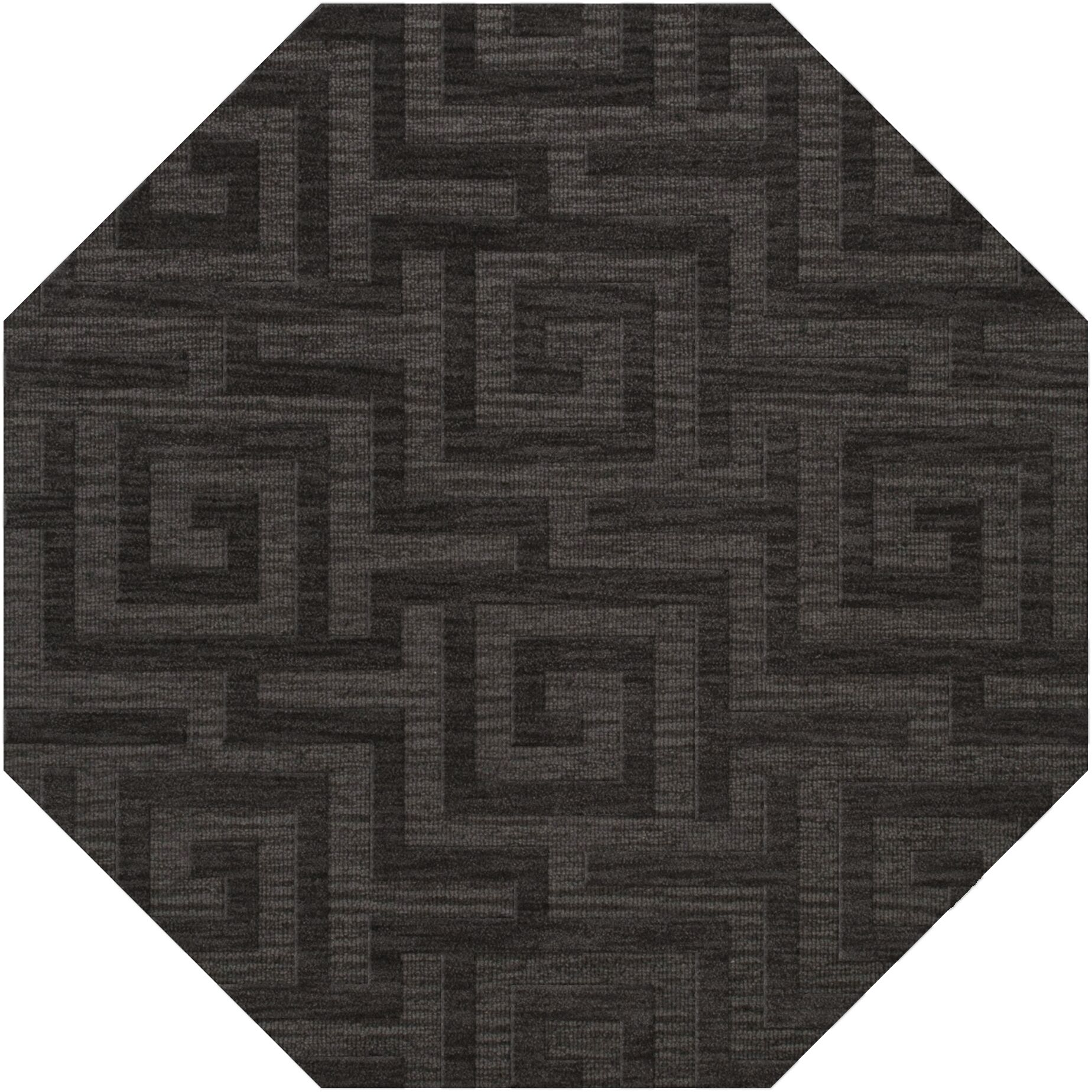 Dover Tufted Wool Ash Area Rug Rug Size: Octagon 6'