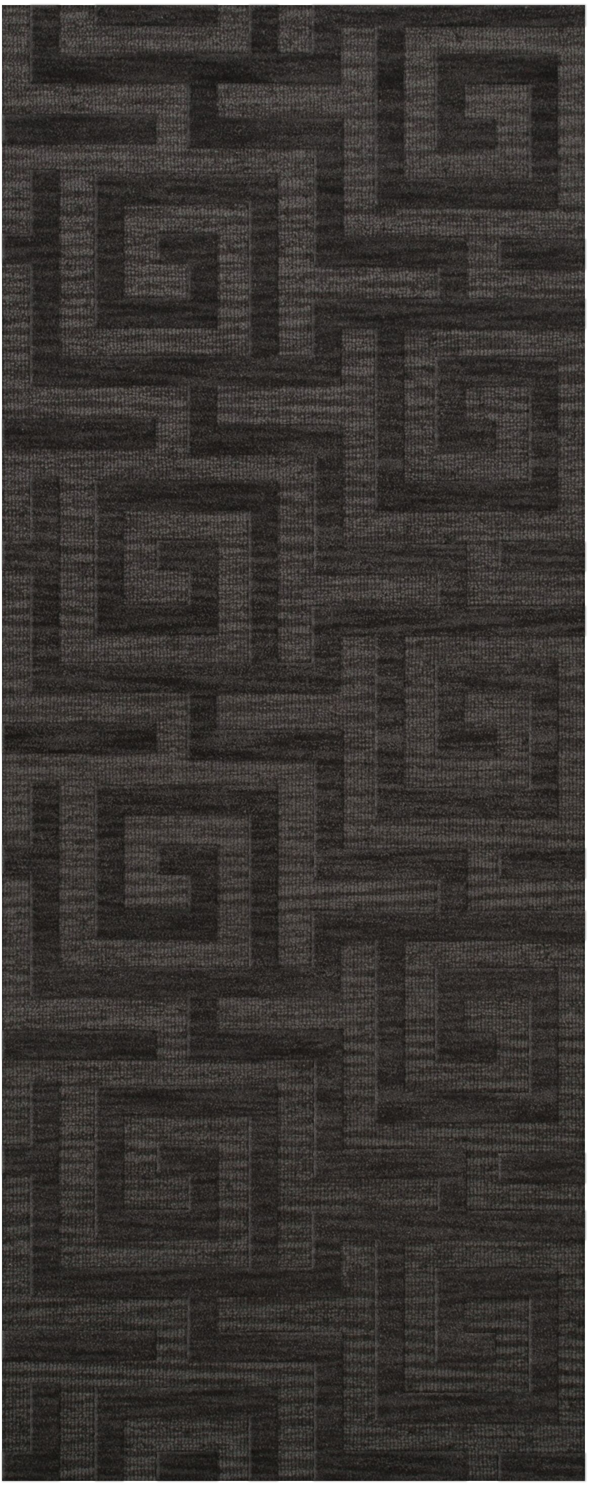 Dover Tufted Wool Ash Area Rug Rug Size: Runner 2'6