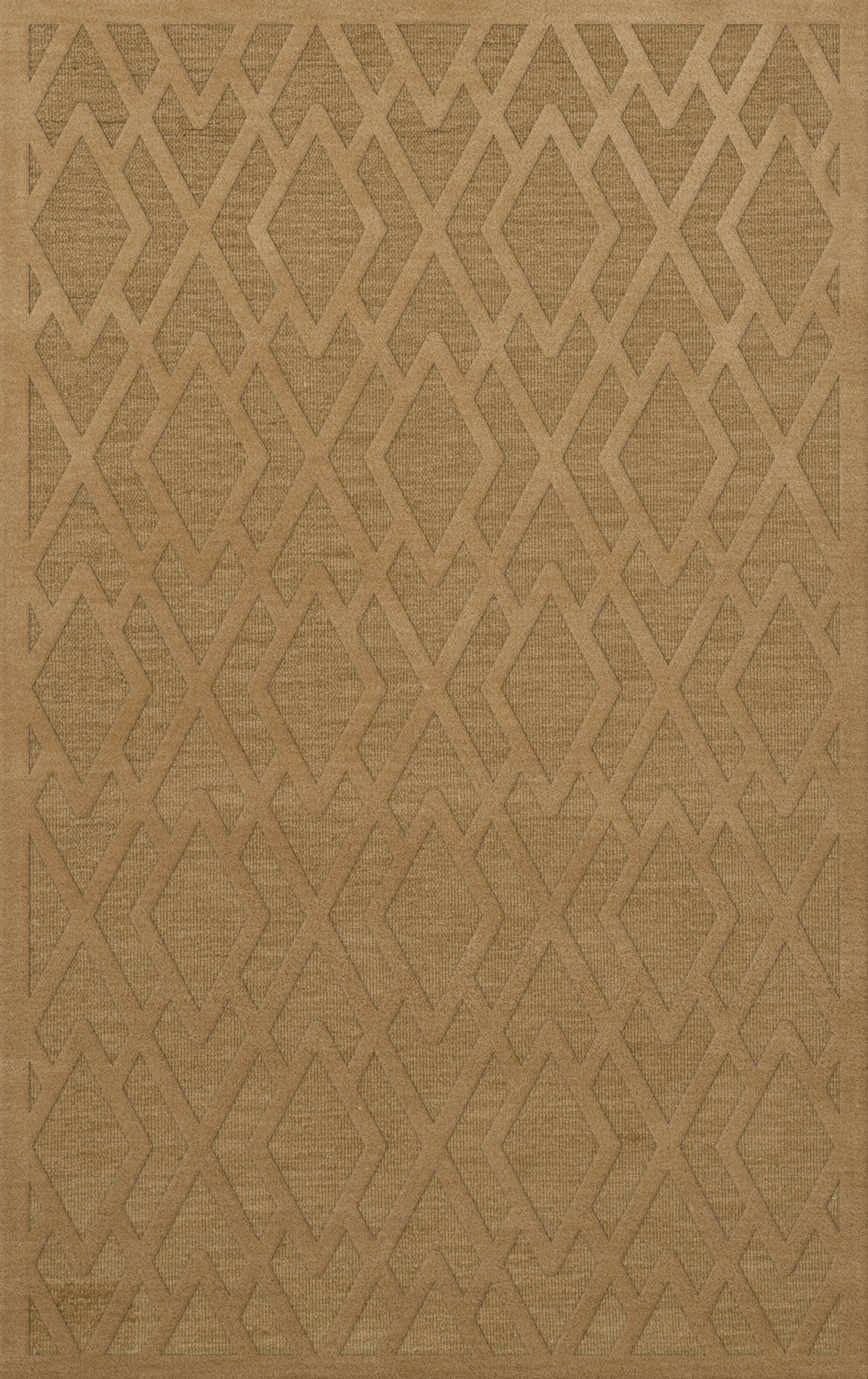 Dover Tufted Wool Wheat Area Rug Rug Size: Rectangle 4' x 6'