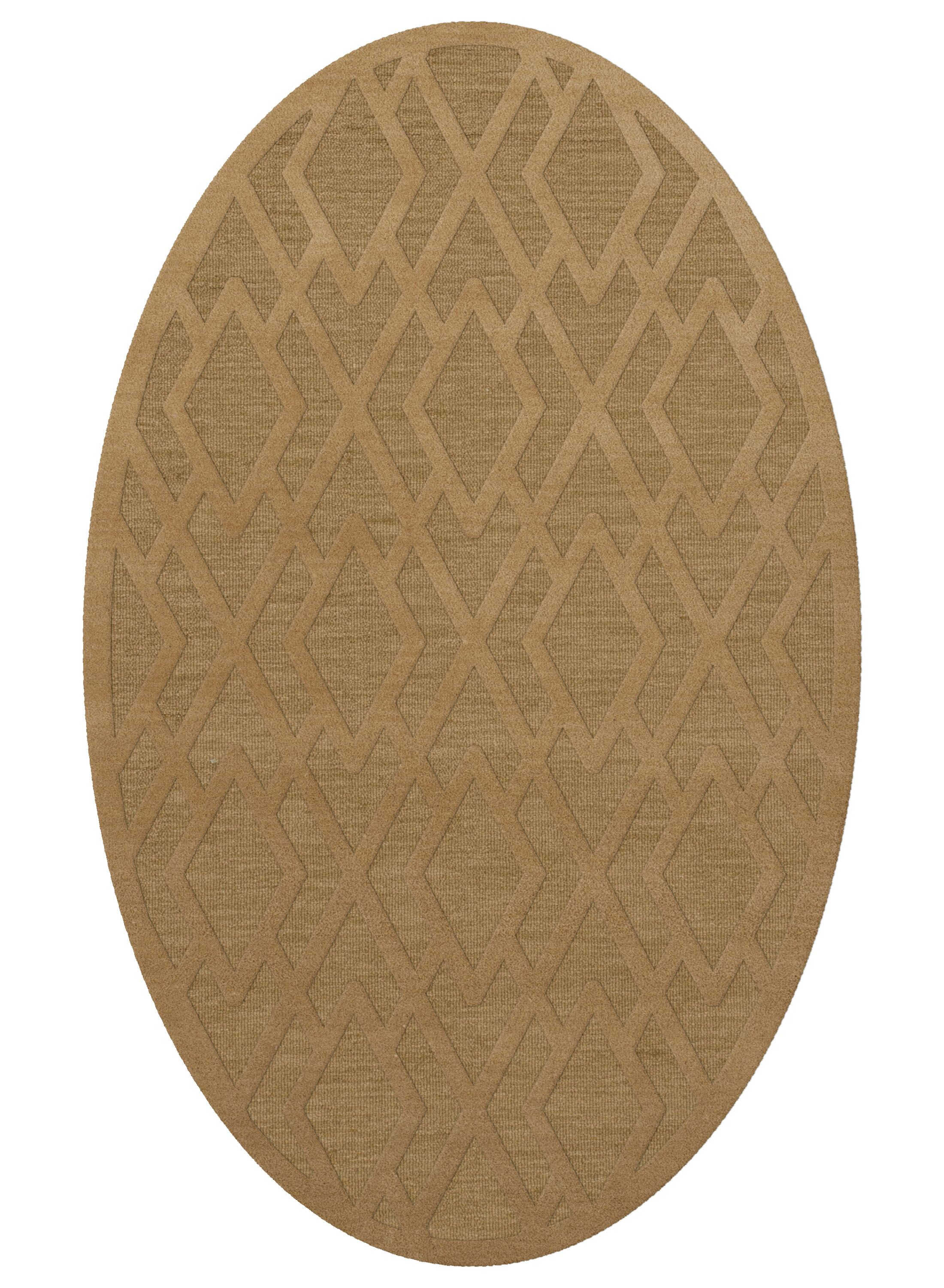 Dover Tufted Wool Wheat Area Rug Rug Size: Oval 12' x 15'