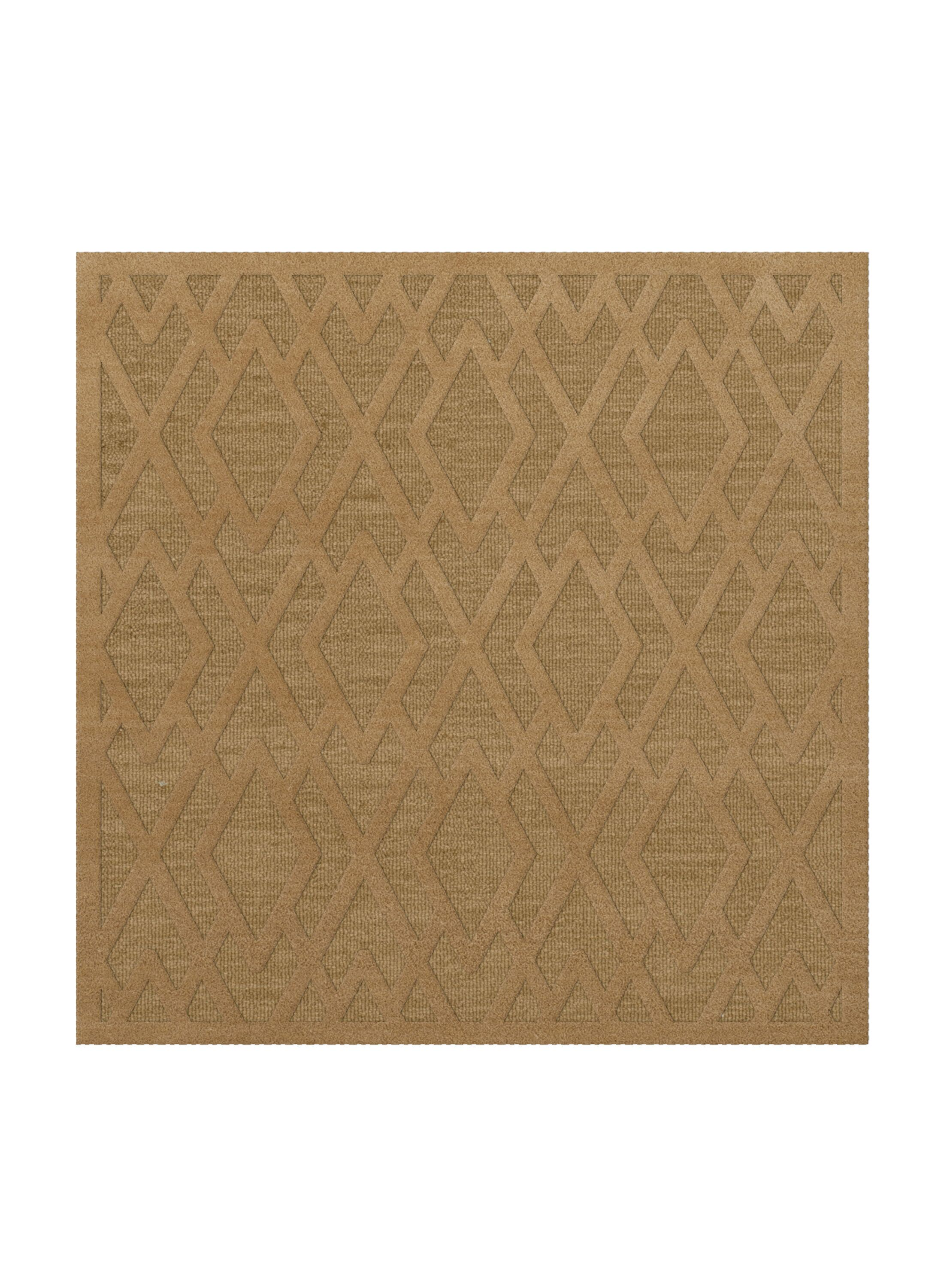 Dover Tufted Wool Wheat Area Rug Rug Size: Square 4'