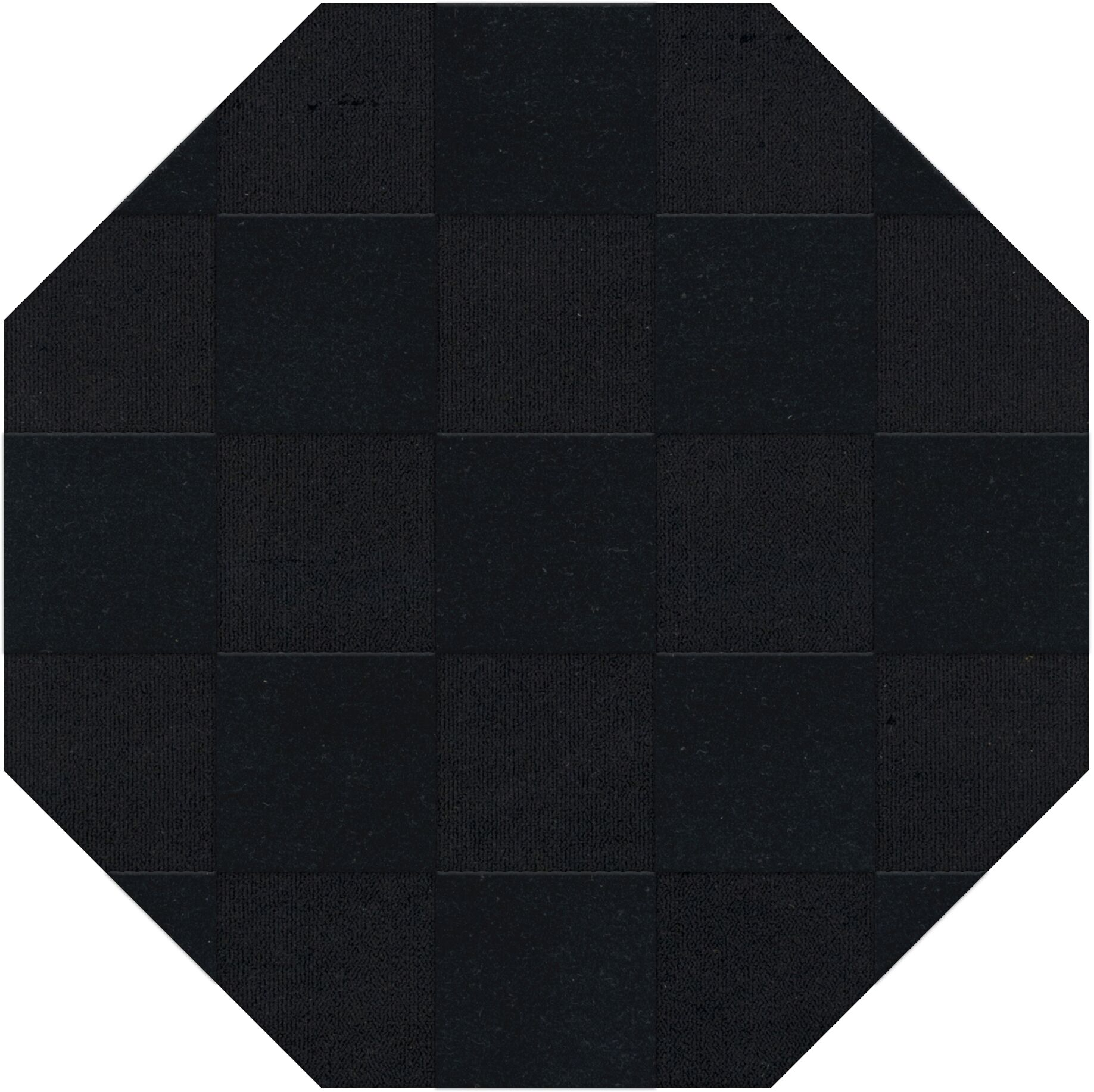 Dover Tufted Wool Black Area Rug Rug Size: Octagon 4'