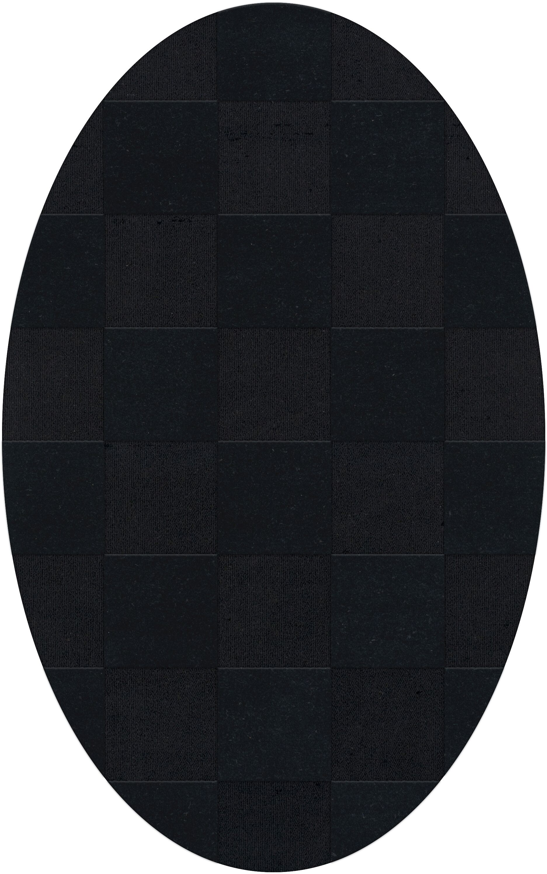 Dover Tufted Wool Black Area Rug Rug Size: Oval 3' x 5'
