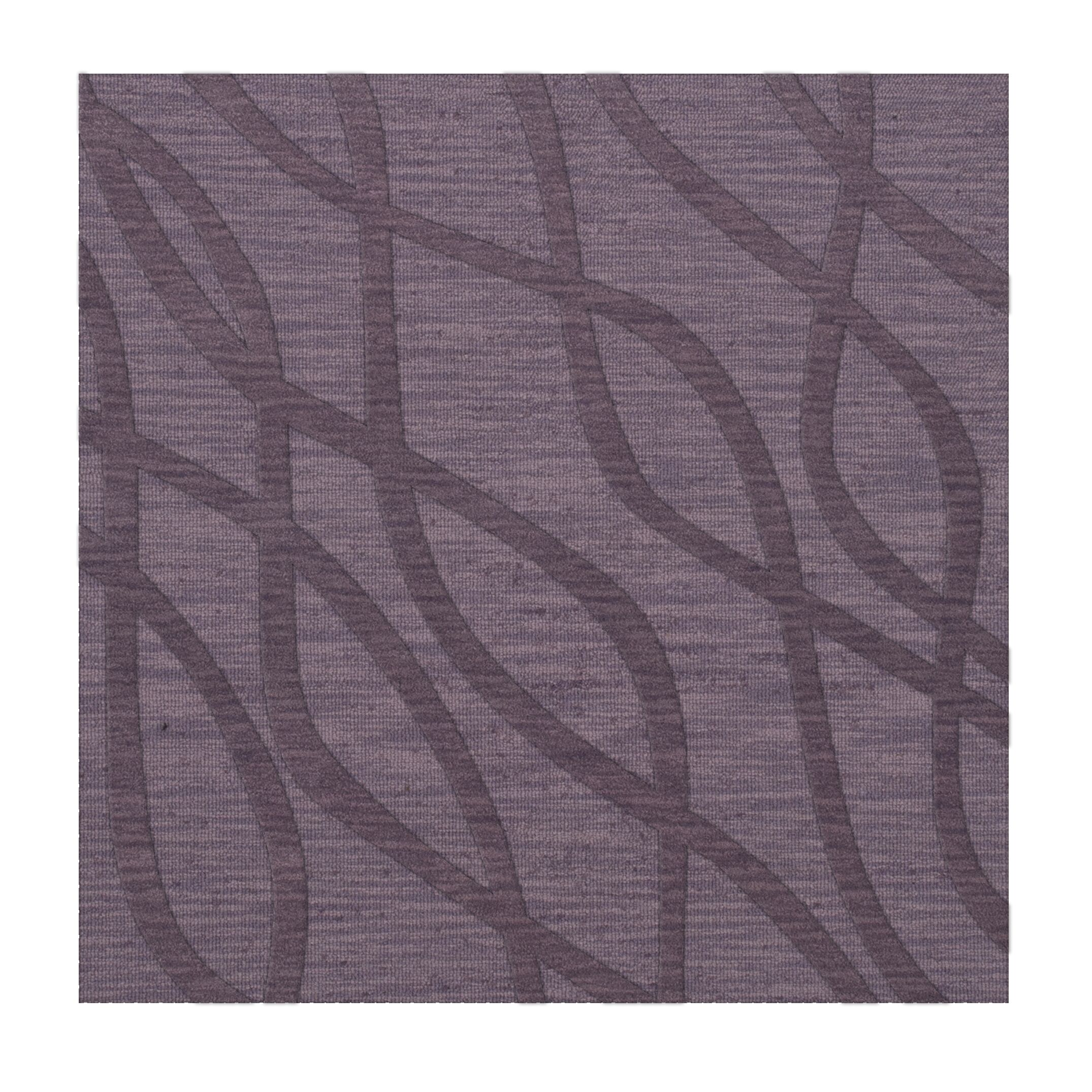 Dover Tufted Wool Viola Area Rug Rug Size: Square 10'