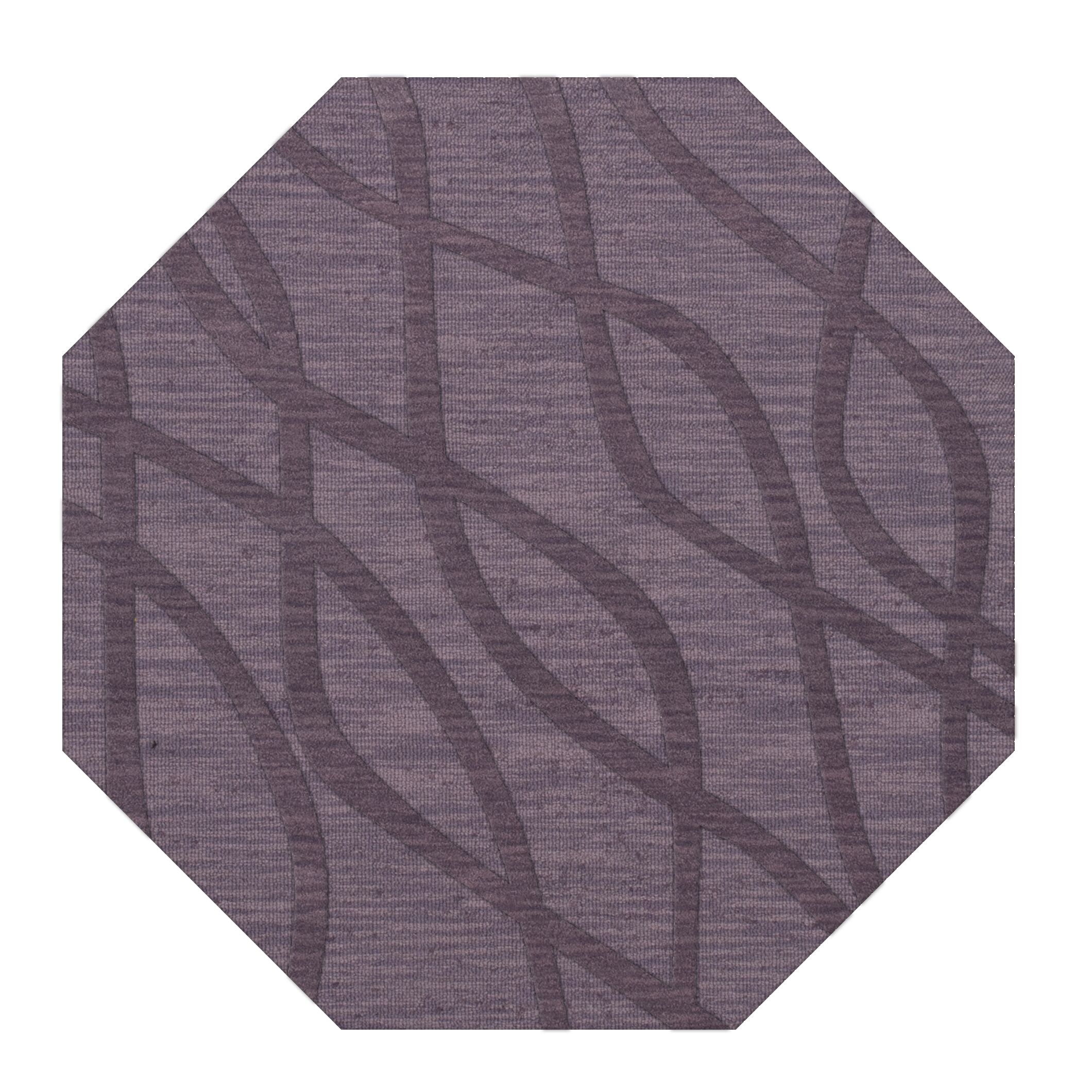 Dover Tufted Wool Viola Area Rug Rug Size: Octagon 4'