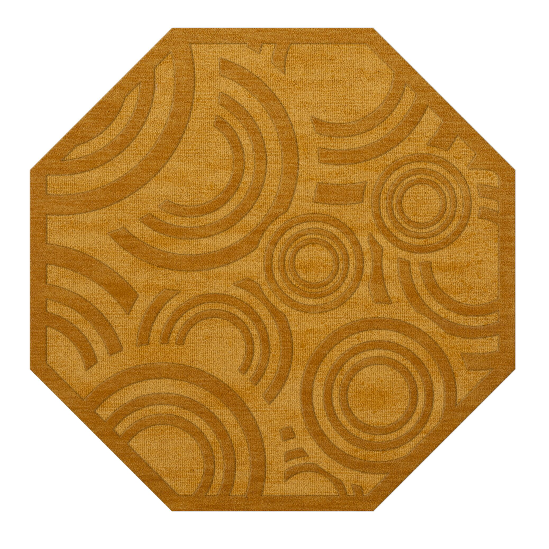 Dover Tufted Wool Butterscotch Area Rug Rug Size: Octagon 8'