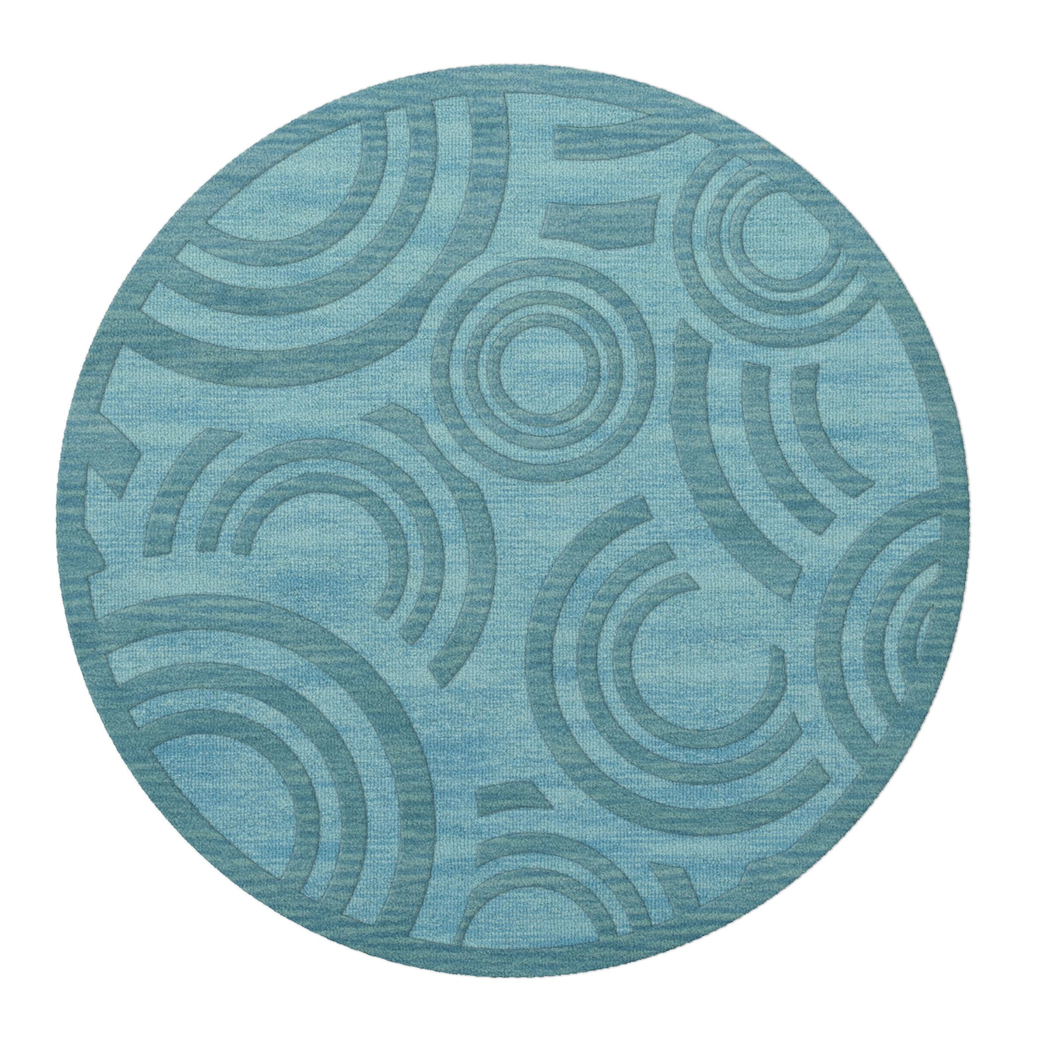 Dover Peacock Area Rug Rug Size: Round 8'