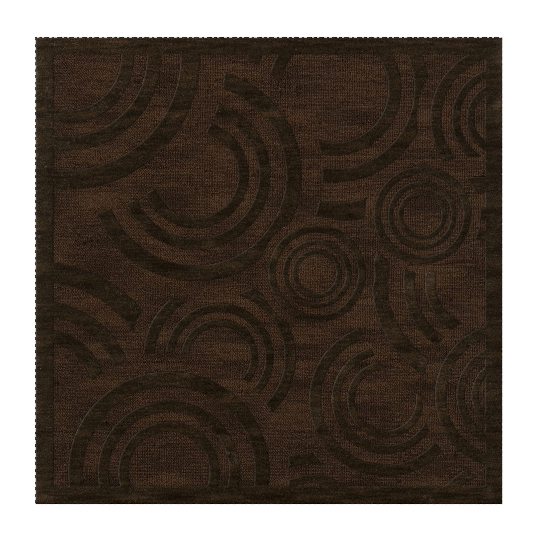 Dover Tufted Wool Fudge Area Rug Rug Size: Square 6'