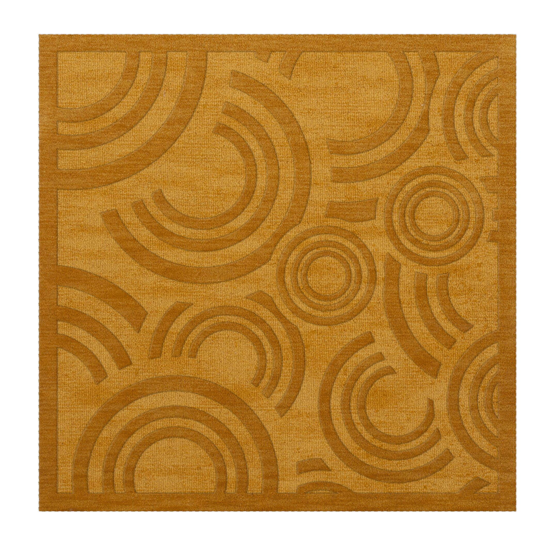 Dover Tufted Wool Butterscotch Area Rug Rug Size: Square 4'