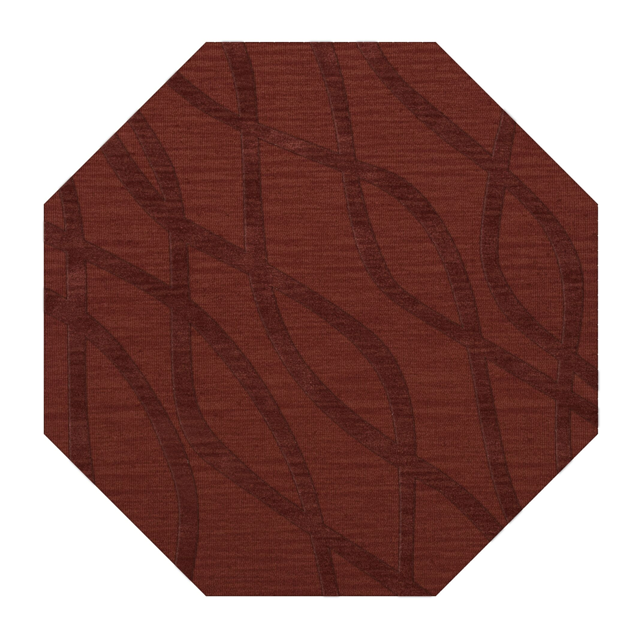 Dover Tufted Wool Canyon Area Rug Rug Size: Octagon 10'