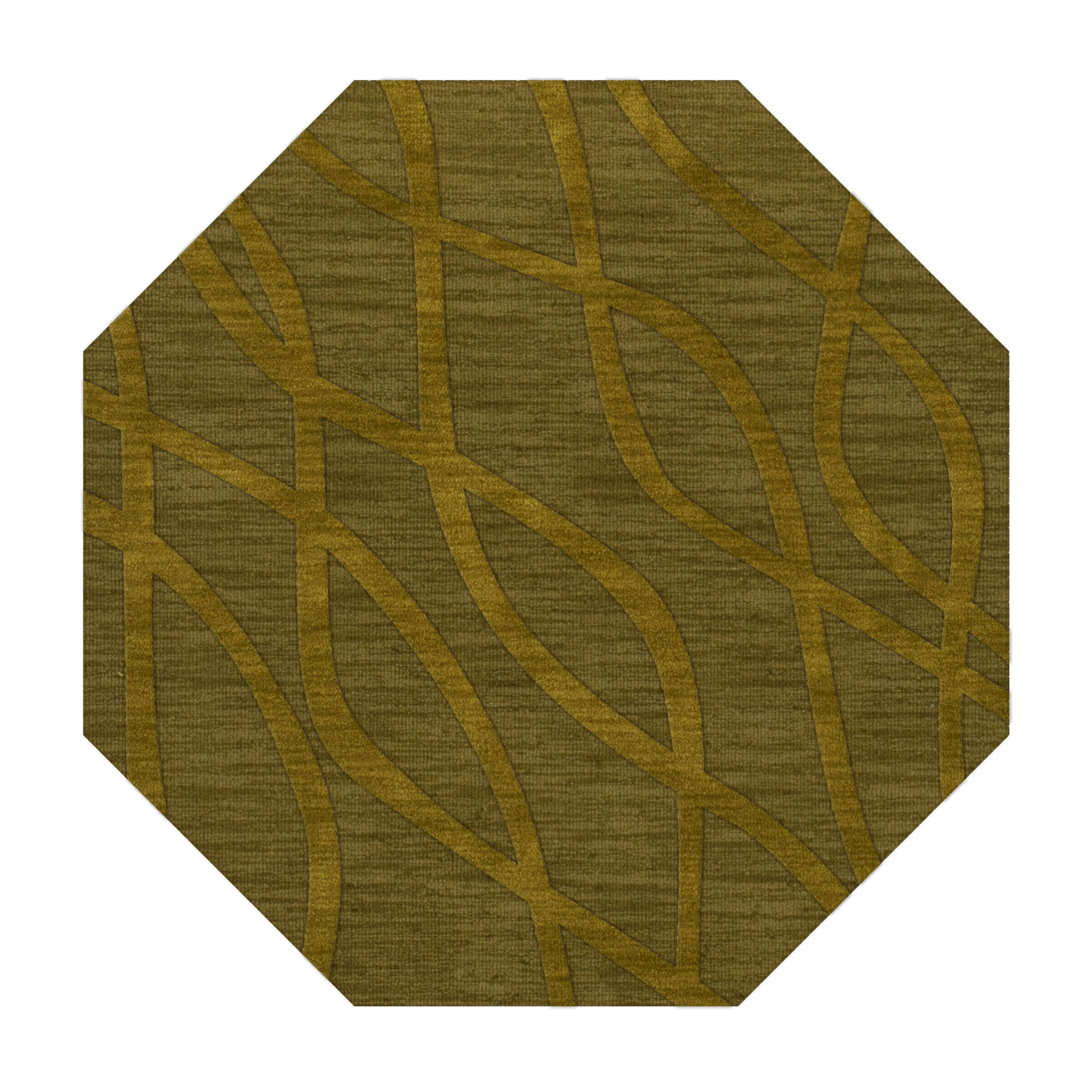 Dover Tufted Wool Avocado Area Rug Rug Size: Octagon 8'
