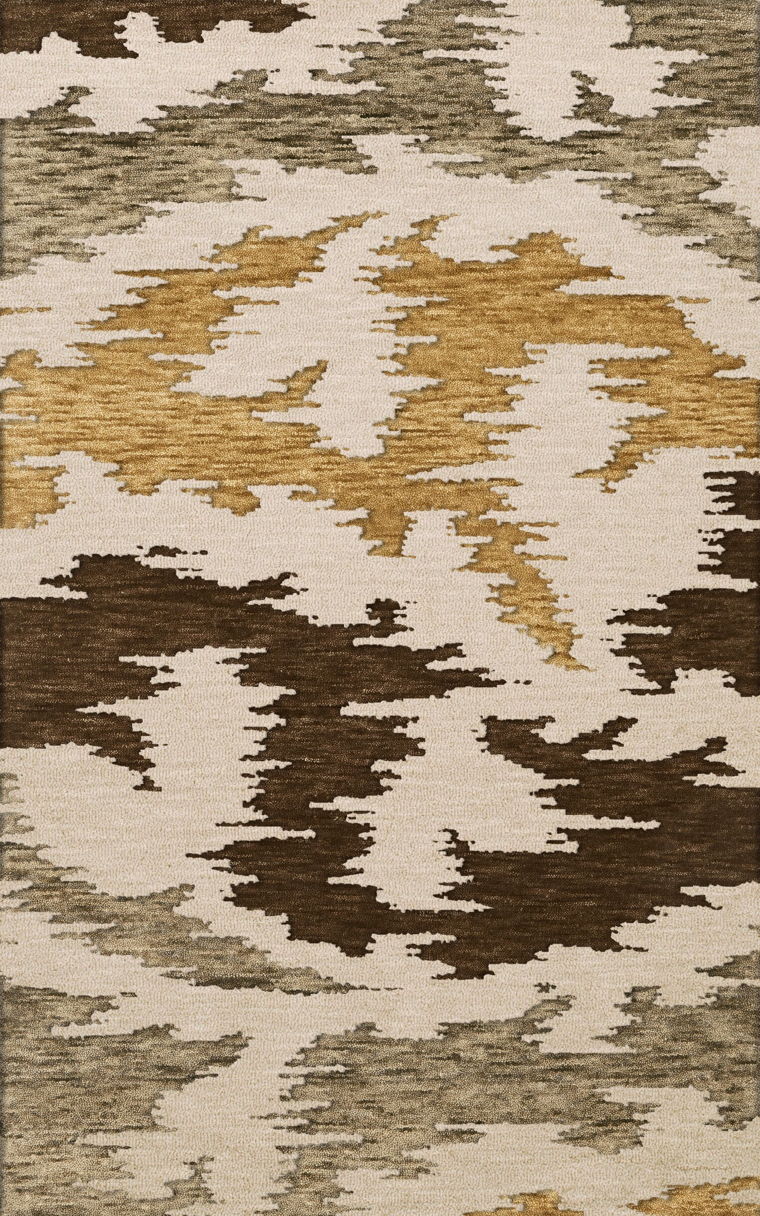Bella Machine Woven Wool Brown Area Rug Rug Size: Oval 12' x 15'